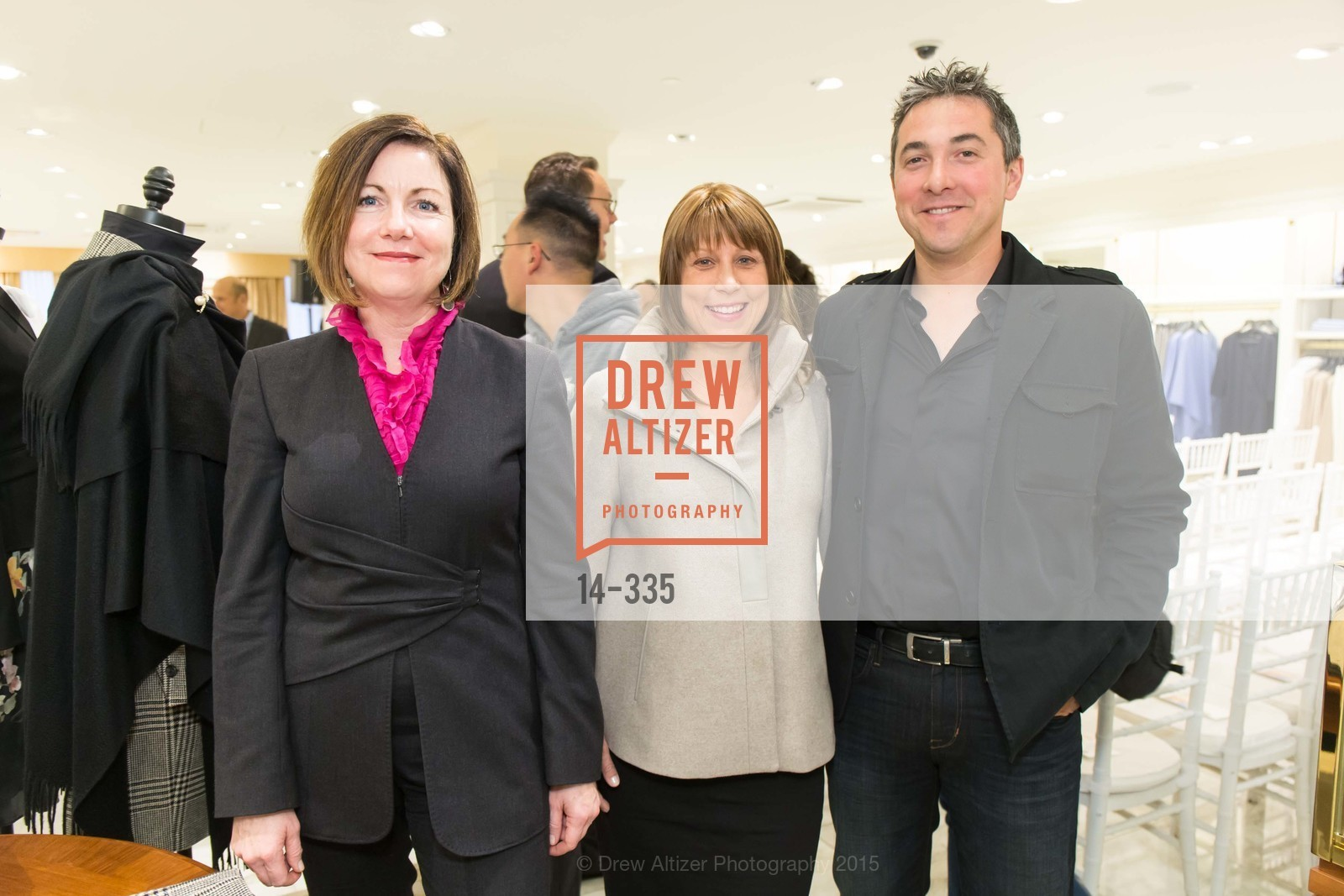 Nancy Barrett, Amanda Jones O'Reilly, Frank O'Reilly, Launch Party for The San Francisco Fall Antiques Show, Brooks Brothers. 240 Post St, October 1st, 2015,Drew Altizer, Drew Altizer Photography, full-service agency, private events, San Francisco photographer, photographer california