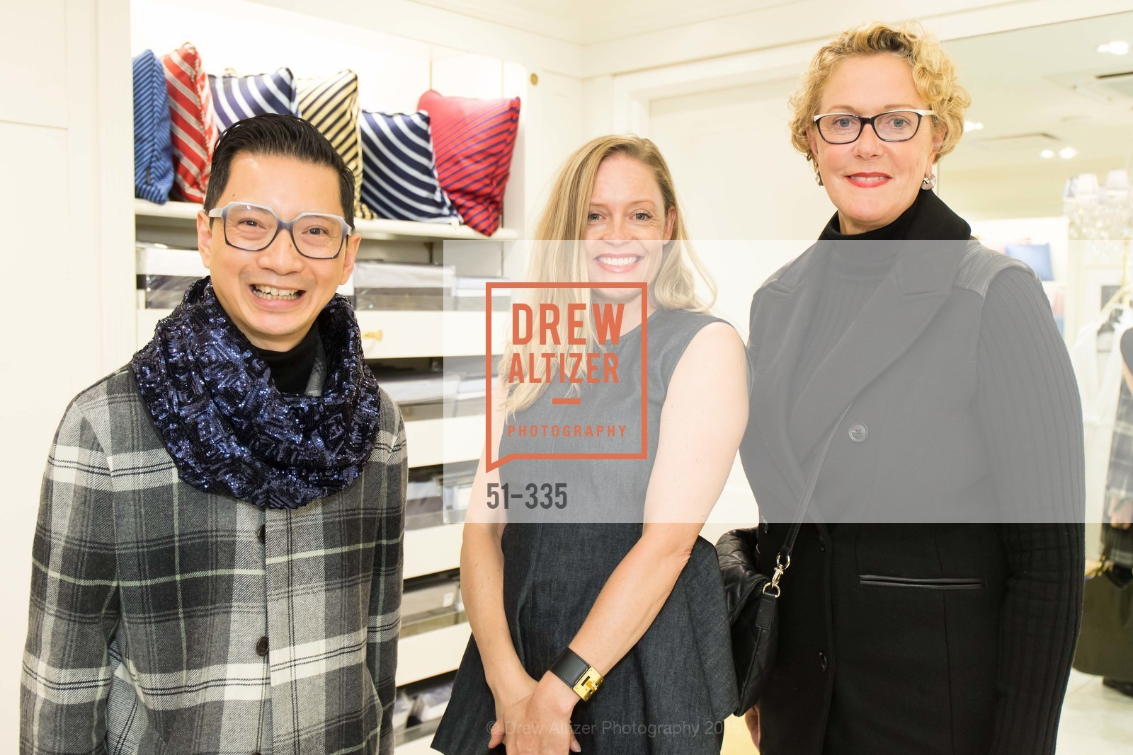 Lorence Manansala, Maria Gistrand, Susan DiStefano, Launch Party for The San Francisco Fall Antiques Show, Brooks Brothers. 240 Post St, October 1st, 2015,Drew Altizer, Drew Altizer Photography, full-service agency, private events, San Francisco photographer, photographer california