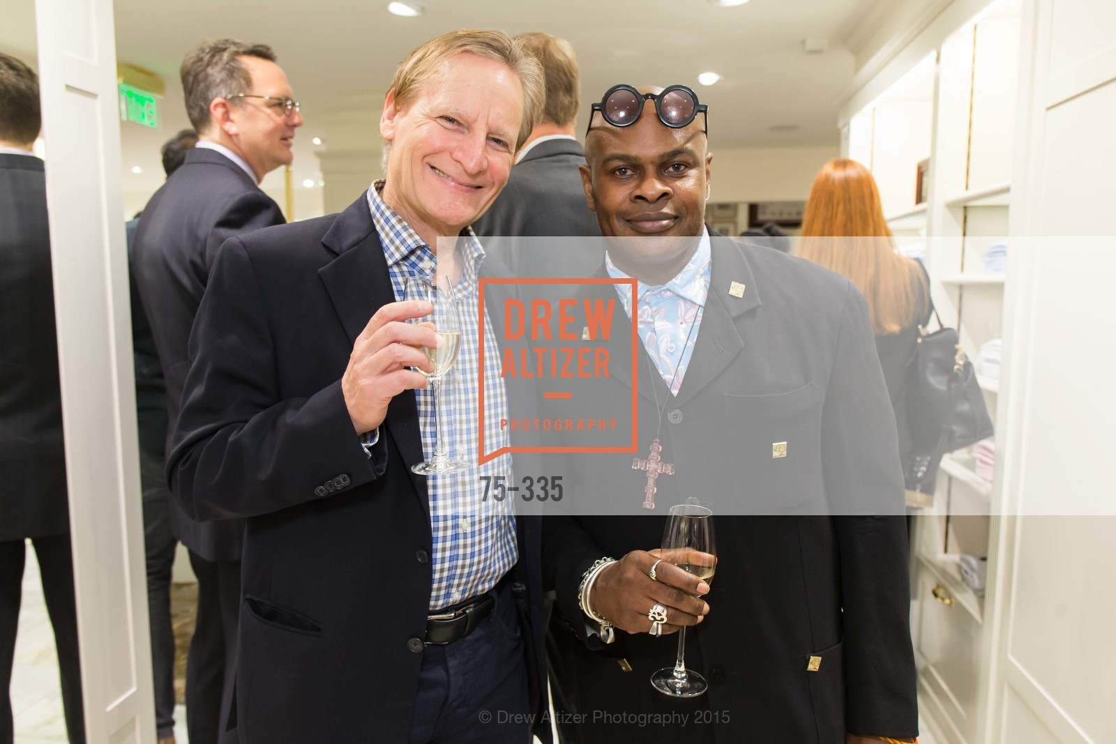 Ernie McNabb, Babatunde Oladoja, Launch Party for The San Francisco Fall Antiques Show, Brooks Brothers. 240 Post St, October 1st, 2015,Drew Altizer, Drew Altizer Photography, full-service agency, private events, San Francisco photographer, photographer california