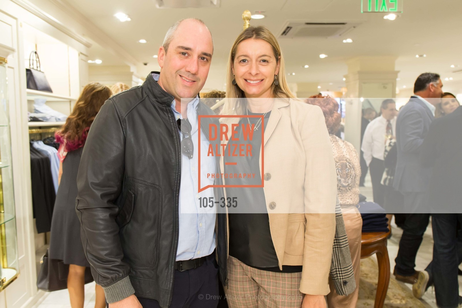 Gil Padia, Laura Wharton, Launch Party for The San Francisco Fall Antiques Show, Brooks Brothers. 240 Post St, October 1st, 2015,Drew Altizer, Drew Altizer Photography, full-service agency, private events, San Francisco photographer, photographer california