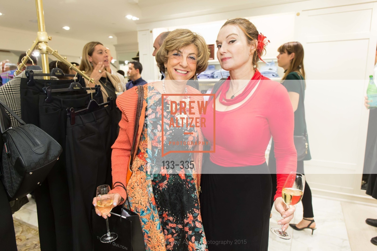 Ludmila Eggleton, Milada Belaya, Launch Party for The San Francisco Fall Antiques Show, Brooks Brothers. 240 Post St, October 1st, 2015,Drew Altizer, Drew Altizer Photography, full-service event agency, private events, San Francisco photographer, photographer California