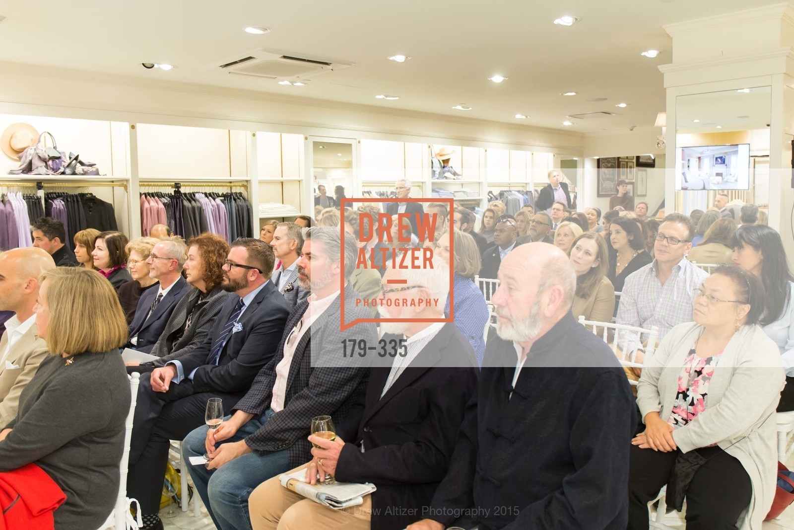 Atmosphere, Launch Party for The San Francisco Fall Antiques Show, Brooks Brothers. 240 Post St, October 1st, 2015
