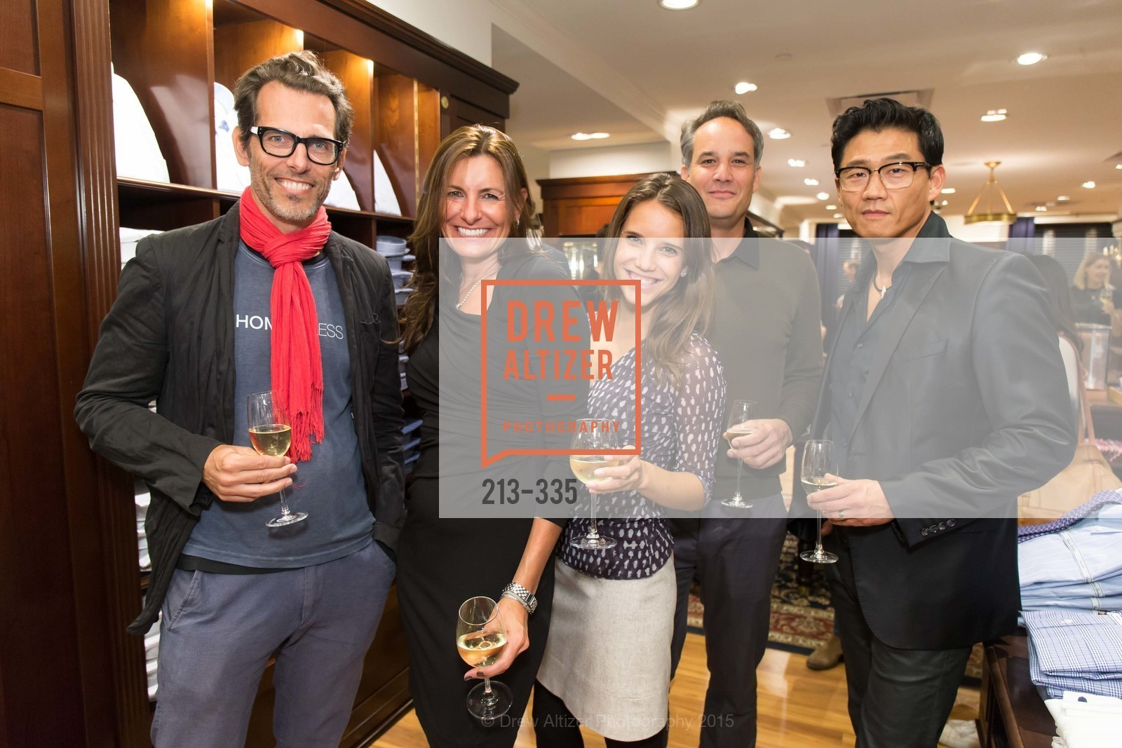 Thomas Adelweis, Rebecca Cooper, Laura Meyer, John McCoy, Philip Lee, Launch Party for The San Francisco Fall Antiques Show, Brooks Brothers. 240 Post St, October 1st, 2015,Drew Altizer, Drew Altizer Photography, full-service agency, private events, San Francisco photographer, photographer california