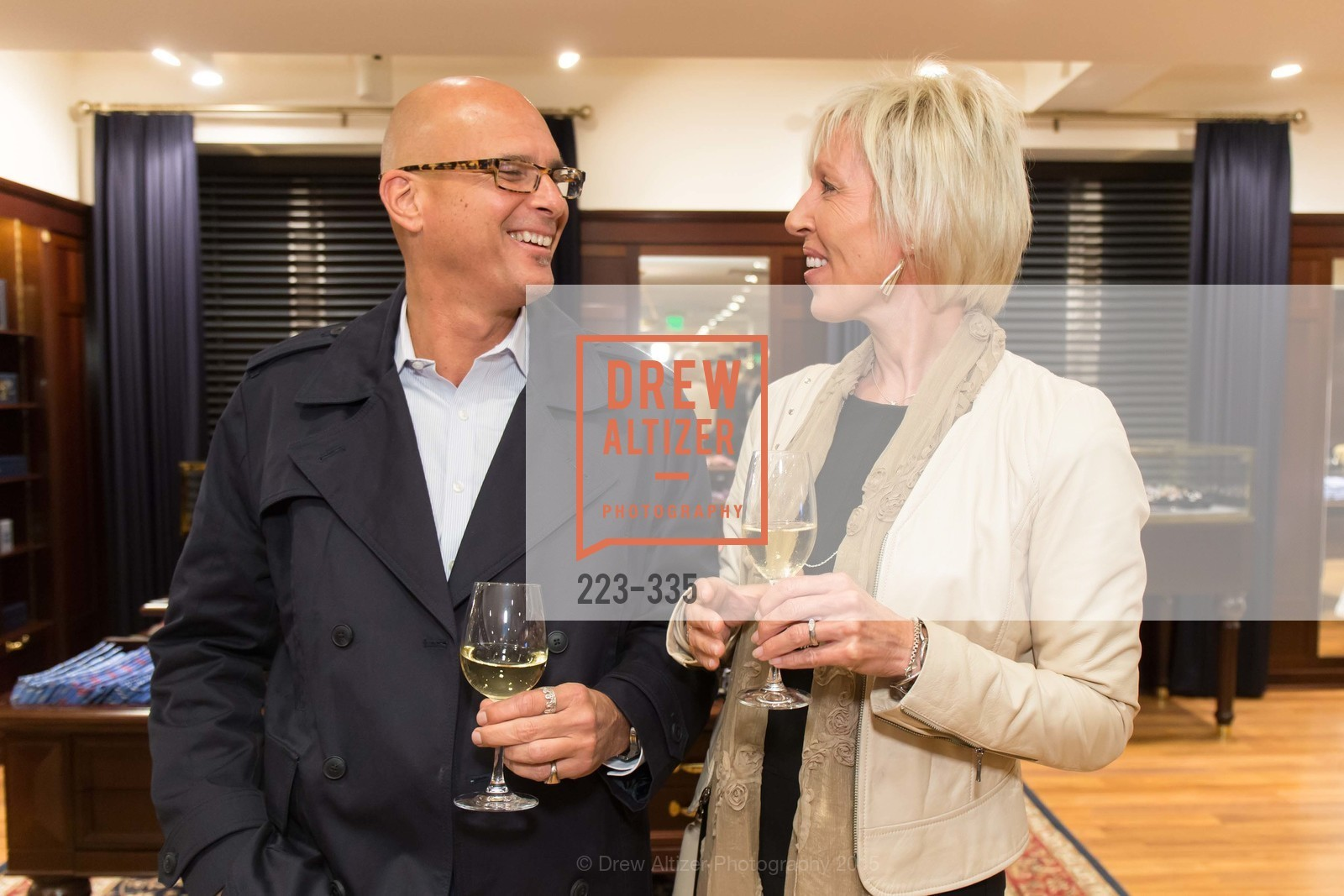 Mark Busacca, Donna McPherson, Launch Party for The San Francisco Fall Antiques Show, Brooks Brothers. 240 Post St, October 1st, 2015,Drew Altizer, Drew Altizer Photography, full-service agency, private events, San Francisco photographer, photographer california