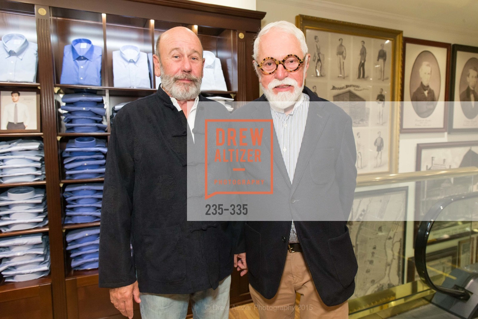Jim Connor, Lewis Sykes, Launch Party for The San Francisco Fall Antiques Show, Brooks Brothers. 240 Post St, October 1st, 2015,Drew Altizer, Drew Altizer Photography, full-service agency, private events, San Francisco photographer, photographer california