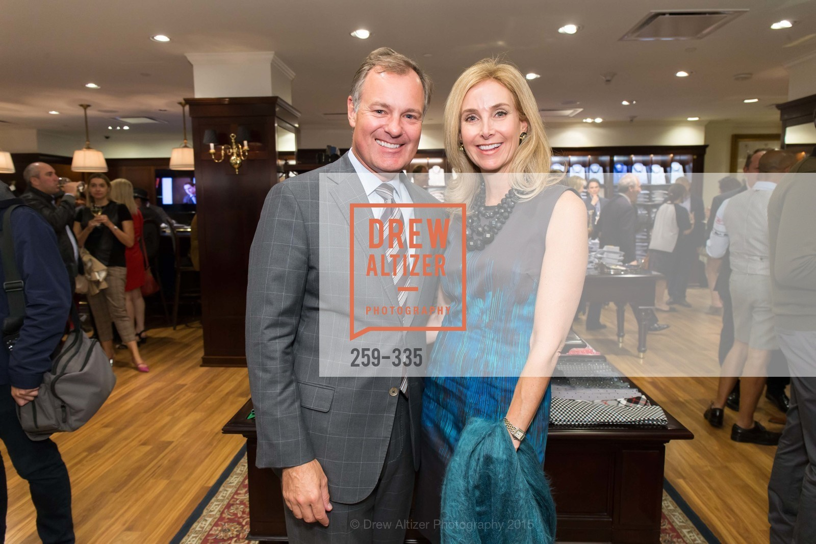 Kurt Hoefer, Melanie Hoefer, Launch Party for The San Francisco Fall Antiques Show, Brooks Brothers. 240 Post St, October 1st, 2015,Drew Altizer, Drew Altizer Photography, full-service agency, private events, San Francisco photographer, photographer california