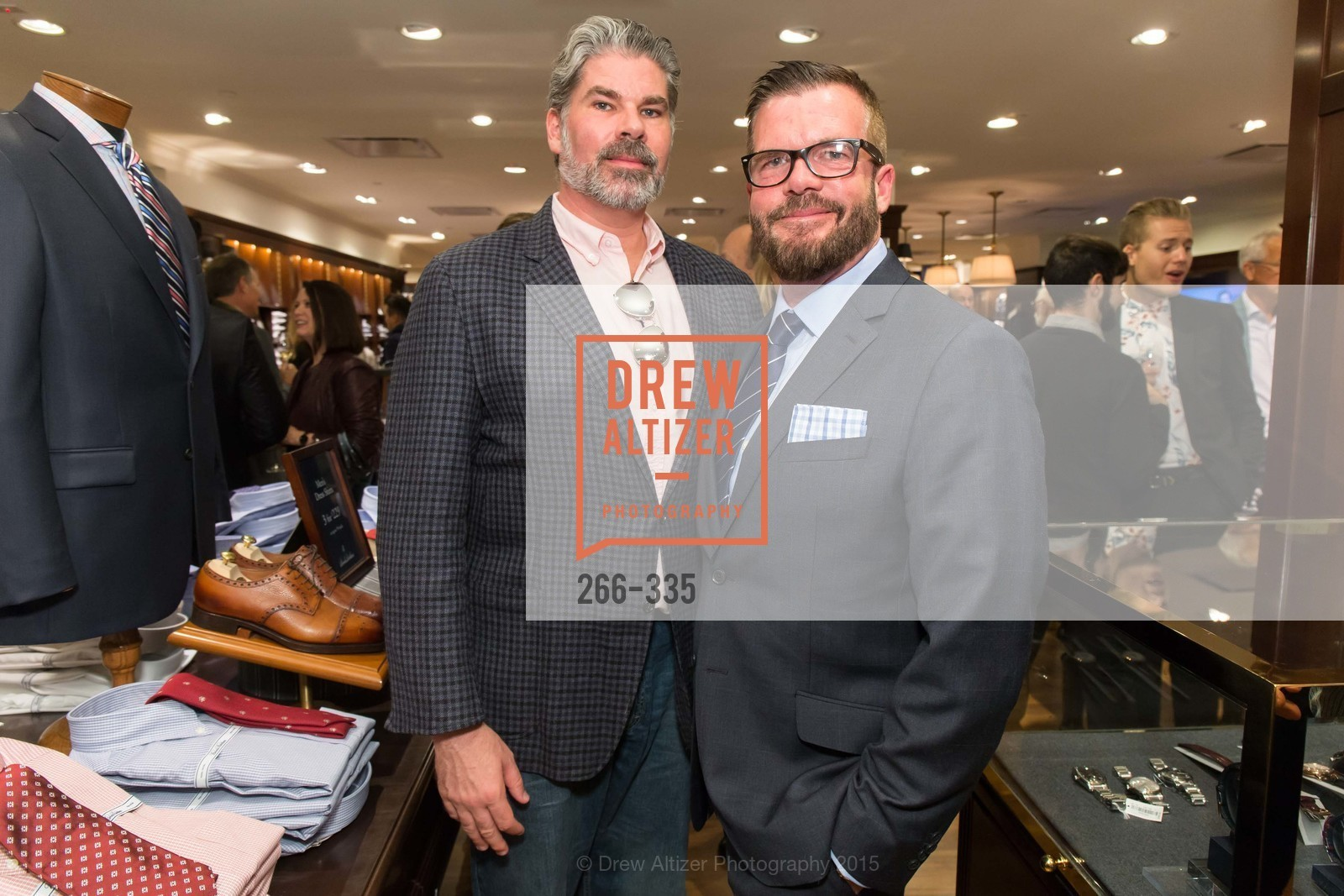 Matthew MacCaul Turner, Philip Bewley, Launch Party for The San Francisco Fall Antiques Show, Brooks Brothers. 240 Post St, October 1st, 2015,Drew Altizer, Drew Altizer Photography, full-service agency, private events, San Francisco photographer, photographer california