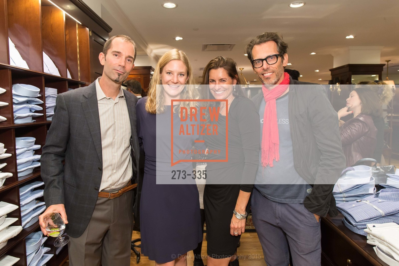 Robert Peterson, Rebecca Cooper, Thomas Adelweiss, Launch Party for The San Francisco Fall Antiques Show, Brooks Brothers. 240 Post St, October 1st, 2015,Drew Altizer, Drew Altizer Photography, full-service event agency, private events, San Francisco photographer, photographer California