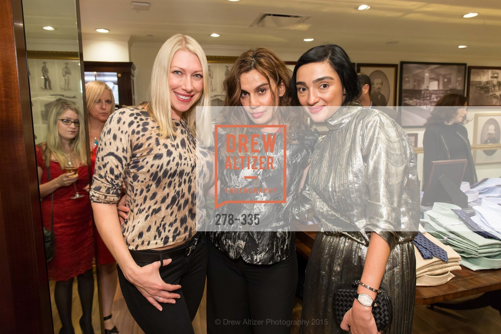 Lana Dobbs, Maya Gervis, Olya Dzilikhova, Launch Party for The San Francisco Fall Antiques Show, Brooks Brothers. 240 Post St, October 1st, 2015,Drew Altizer, Drew Altizer Photography, full-service agency, private events, San Francisco photographer, photographer california