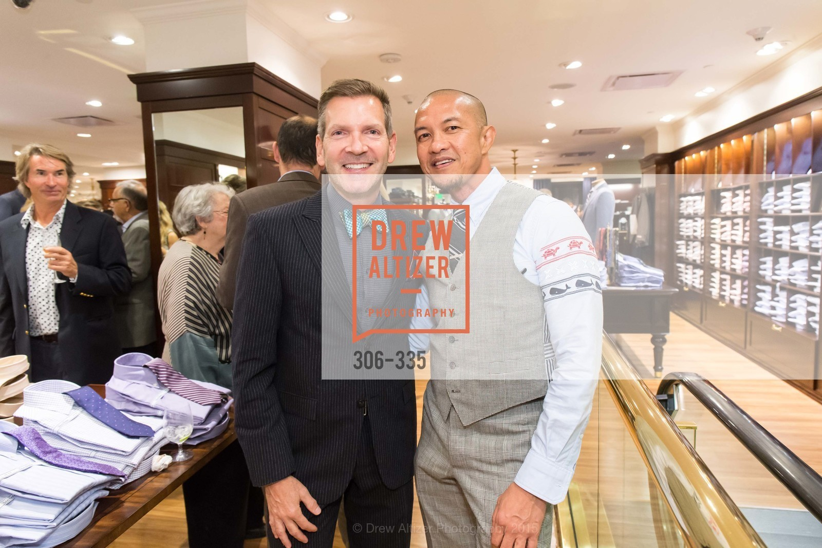 Eric Petsinger, Troy Anicete, Launch Party for The San Francisco Fall Antiques Show, Brooks Brothers. 240 Post St, October 1st, 2015,Drew Altizer, Drew Altizer Photography, full-service agency, private events, San Francisco photographer, photographer california