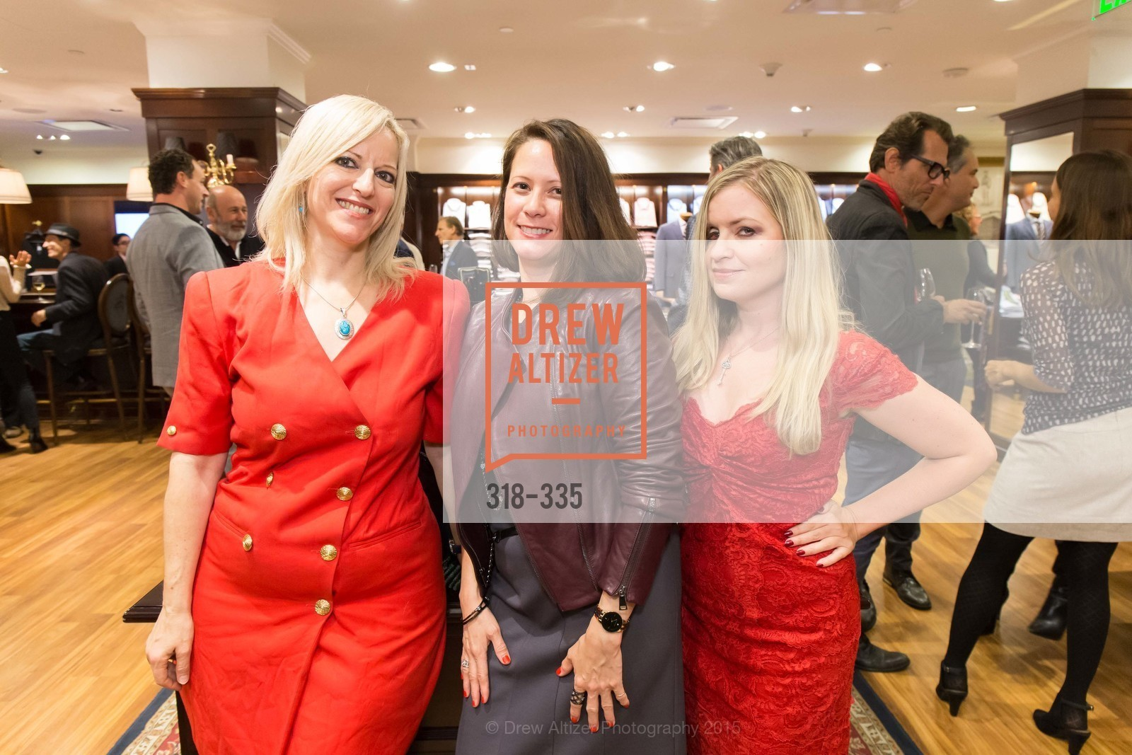 Anne Heit, Ariel Wyatt, Julie Hall, Launch Party for The San Francisco Fall Antiques Show, Brooks Brothers. 240 Post St, October 1st, 2015,Drew Altizer, Drew Altizer Photography, full-service agency, private events, San Francisco photographer, photographer california