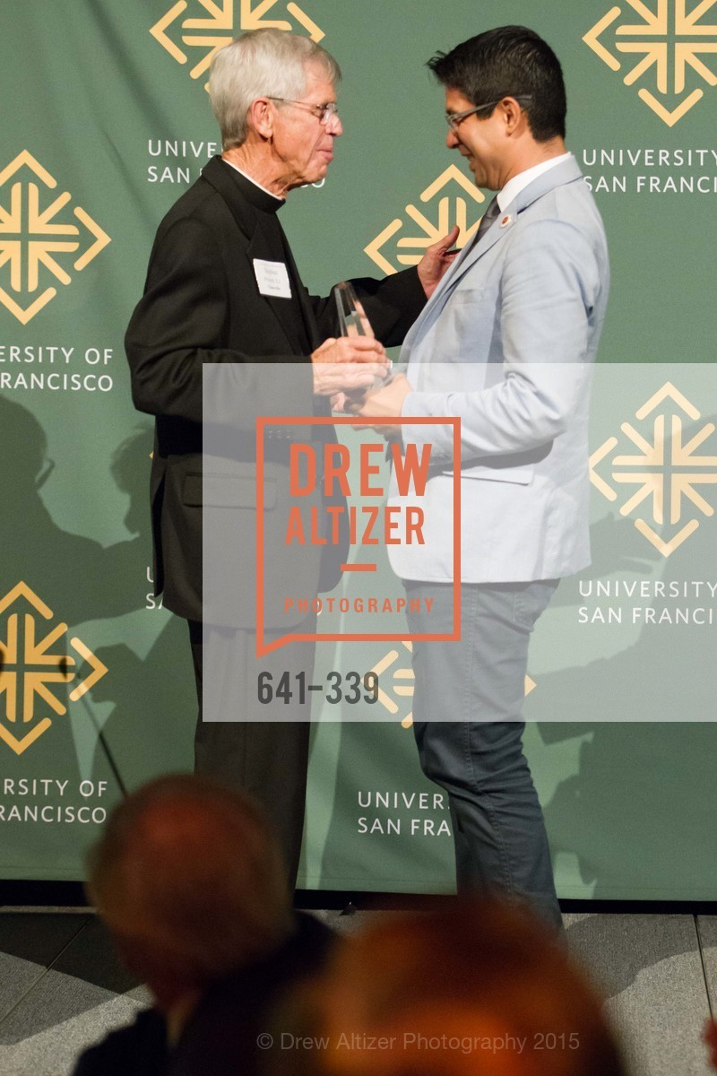 Fr Stephen Privett, Carlos Menchaca, University of San Francisco Alumni Awards Gala 2015, University of San Francisco, October 2nd, 2015,Drew Altizer, Drew Altizer Photography, full-service agency, private events, San Francisco photographer, photographer california