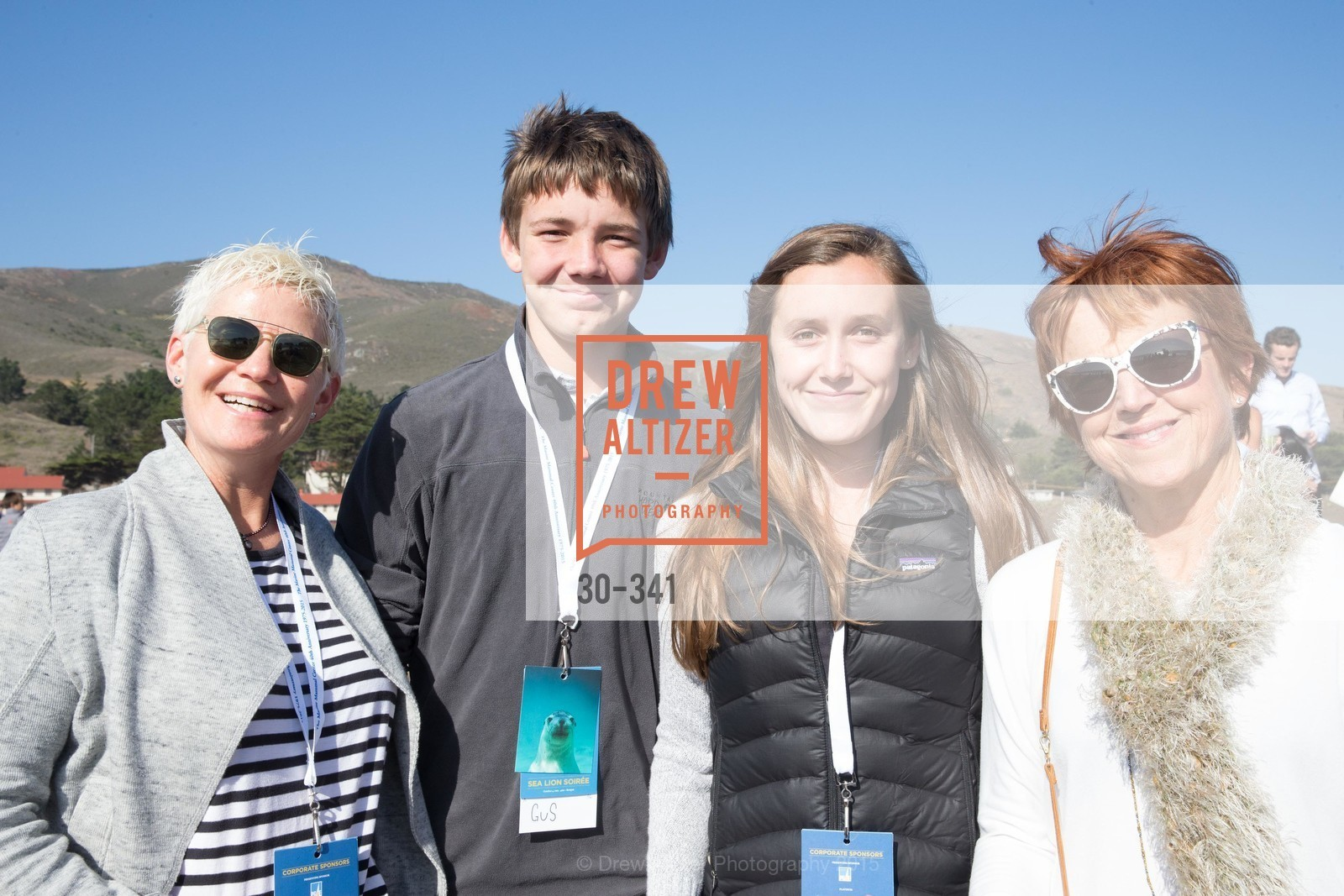 Leslie Subak, Gus McAllister, Lola McAllister, Linda McAllister, The Marine Mammal Center 40th Anniversary, Fort Cronkhite. 200 Bunker Road, October 4th, 2015,Drew Altizer, Drew Altizer Photography, full-service agency, private events, San Francisco photographer, photographer california