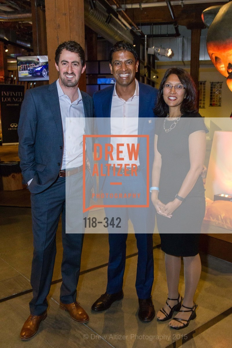 Daniel Roberts, Vas Narasimhan, Srishti Gupta, Fortune's 40 Under 40 Party, GitHub HQ. 88 Colin P Kelly Jr St, October 7th, 2015,Drew Altizer, Drew Altizer Photography, full-service agency, private events, San Francisco photographer, photographer california