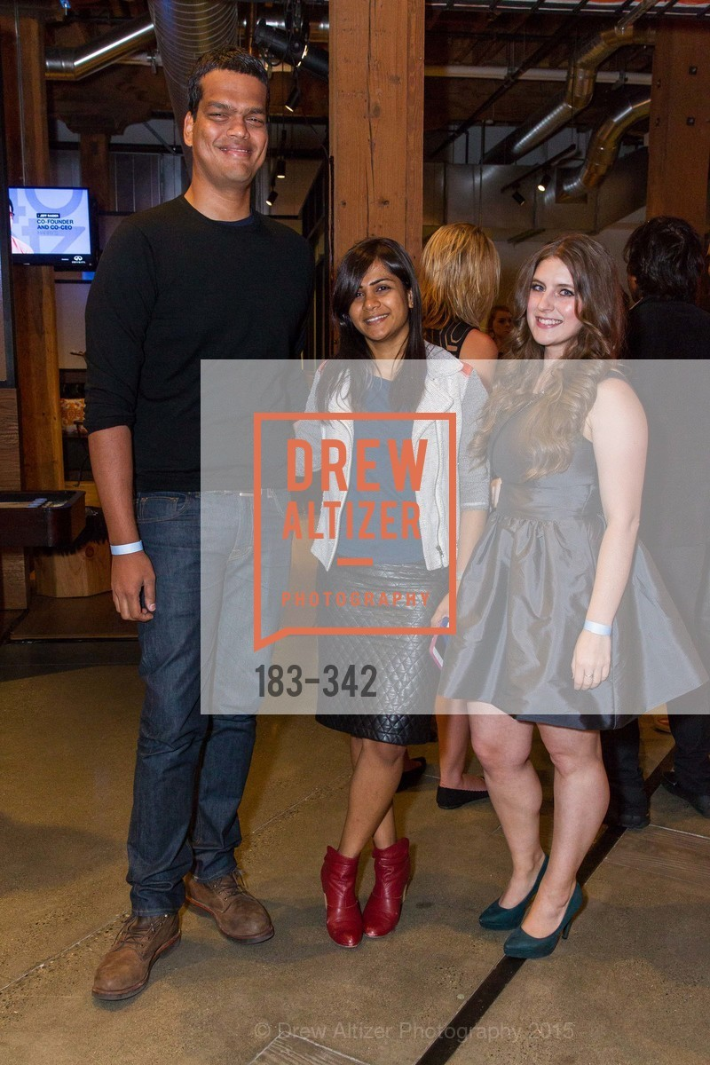 Sriram Krishnan, Aarthi Ramamurthy, Kia Kokalitcheva, Fortune's 40 Under 40 Party, GitHub HQ. 88 Colin P Kelly Jr St, October 7th, 2015,Drew Altizer, Drew Altizer Photography, full-service agency, private events, San Francisco photographer, photographer california