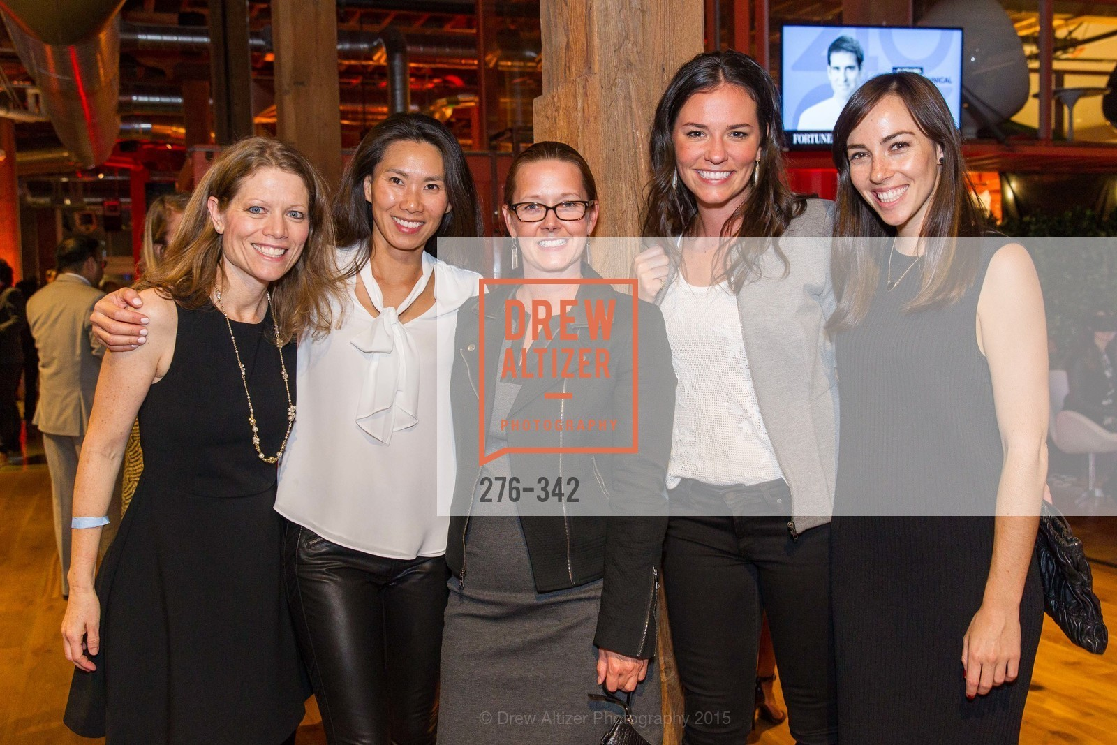 Monica Sembler, Ellen Kim, Lisa Dunwell, Sarah Casnocha, Lindsey Herron, Fortune's 40 Under 40 Party, GitHub HQ. 88 Colin P Kelly Jr St, October 7th, 2015,Drew Altizer, Drew Altizer Photography, full-service agency, private events, San Francisco photographer, photographer california