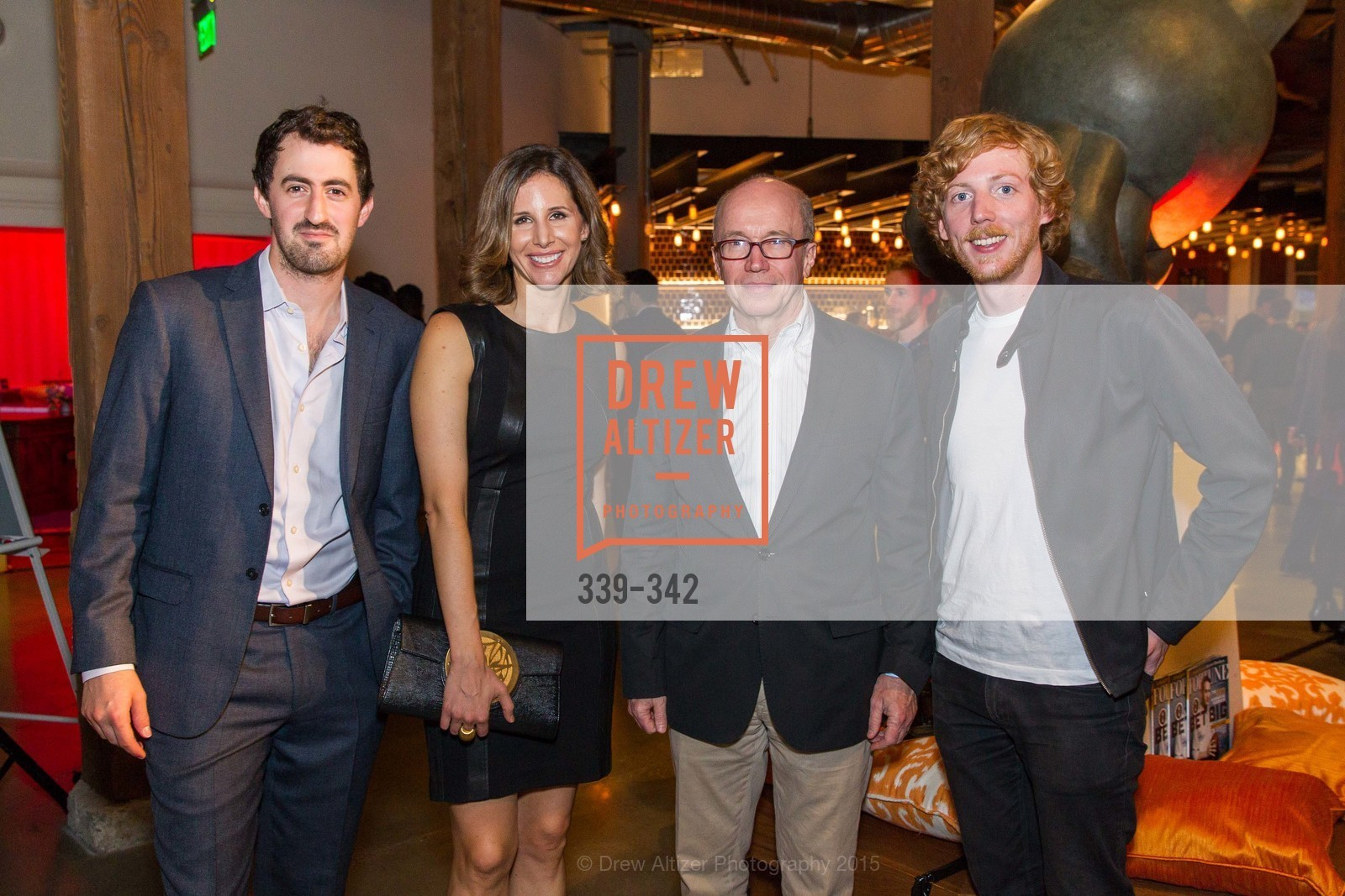 Daniel Roberts, Leigh Gallagher, Alan Murray, Chris Wanstrath, Fortune's 40 Under 40 Party, GitHub HQ. 88 Colin P Kelly Jr St, October 7th, 2015,Drew Altizer, Drew Altizer Photography, full-service agency, private events, San Francisco photographer, photographer california