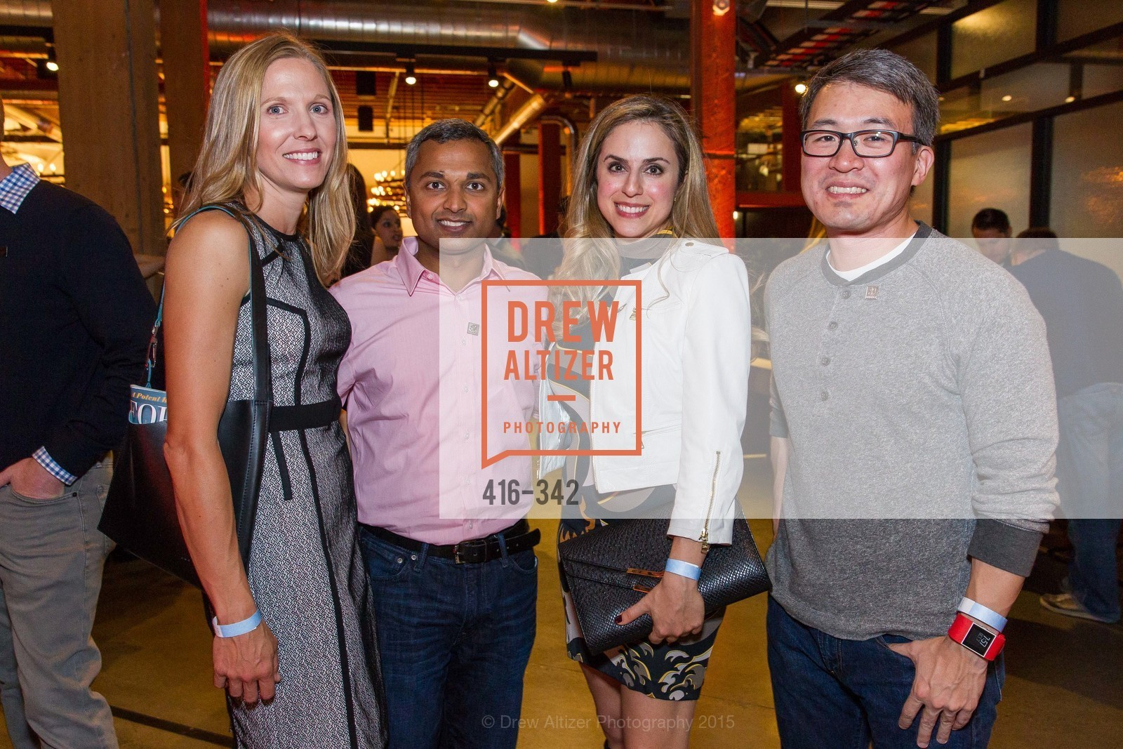 Laura Swaminathan, Anand Swaminathan, Michelle Dipp, James Park, Fortune's 40 Under 40 Party, GitHub HQ. 88 Colin P Kelly Jr St, October 7th, 2015,Drew Altizer, Drew Altizer Photography, full-service agency, private events, San Francisco photographer, photographer california