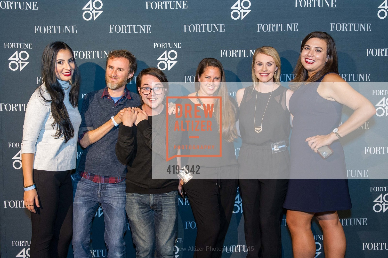 Daniela Quintanilla, Corey Johnson, Pat Nakajima, Alaine Newland, Katelyn Bryant, Kate Guarente, Fortune's 40 Under 40 Party, GitHub HQ. 88 Colin P Kelly Jr St, October 7th, 2015,Drew Altizer, Drew Altizer Photography, full-service agency, private events, San Francisco photographer, photographer california