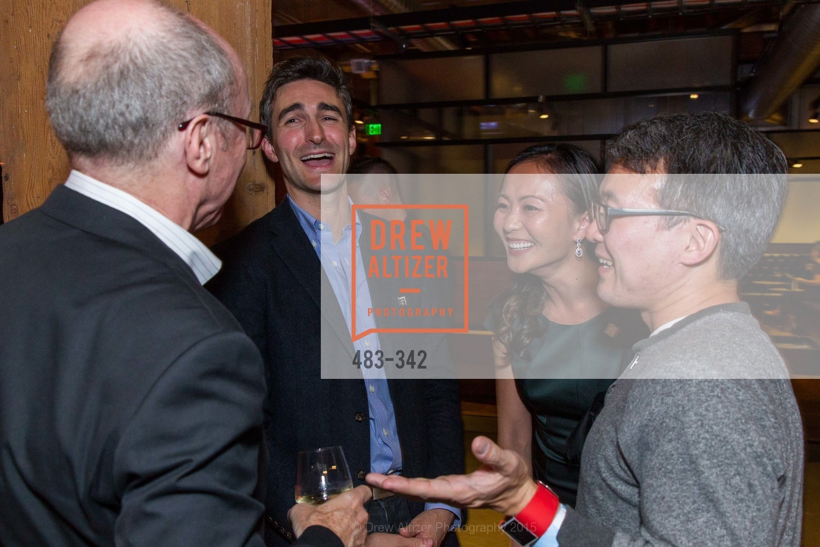 Alan Murray, Trevor Nelson, Karen Fang, James Park, Fortune's 40 Under 40 Party, GitHub HQ. 88 Colin P Kelly Jr St, October 7th, 2015,Drew Altizer, Drew Altizer Photography, full-service agency, private events, San Francisco photographer, photographer california