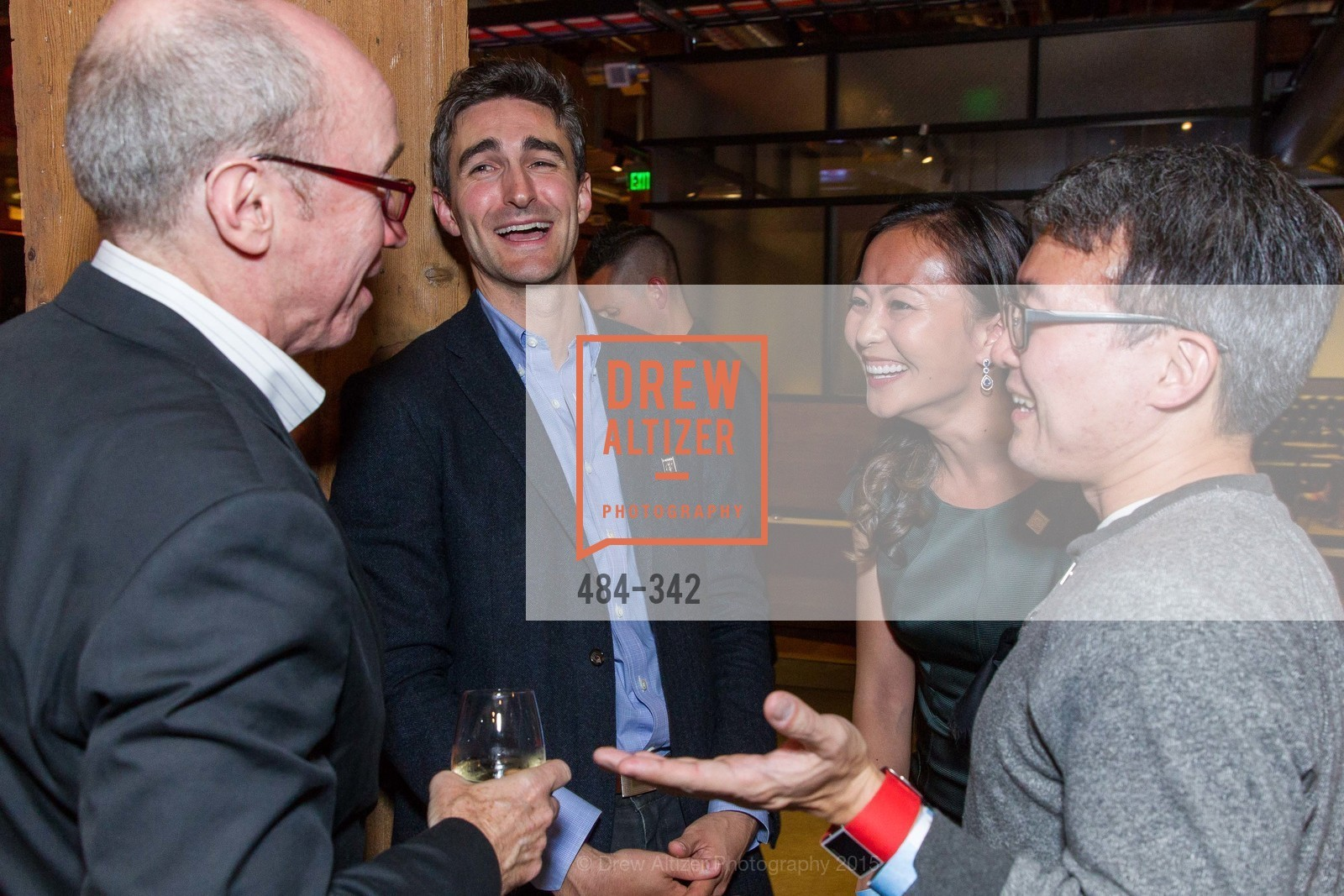 Alan Murray, Trevor Nelson, Karen Fang, James Park, Fortune's 40 Under 40 Party, GitHub HQ. 88 Colin P Kelly Jr St, October 7th, 2015,Drew Altizer, Drew Altizer Photography, full-service event agency, private events, San Francisco photographer, photographer California