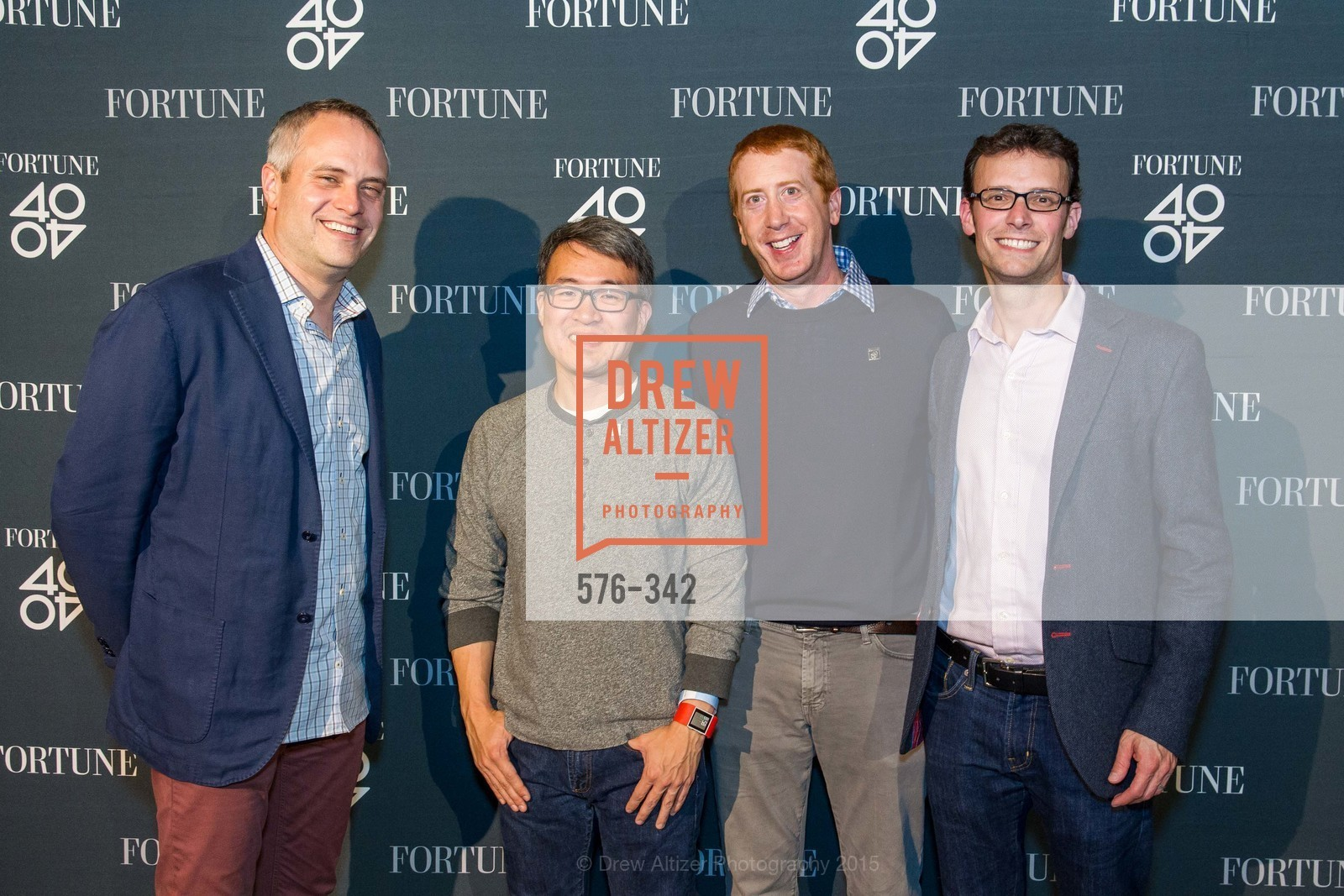 Brad Stone, James Park, Chuck Myers, Eric Stone, Fortune's 40 Under 40 Party, GitHub HQ. 88 Colin P Kelly Jr St, October 7th, 2015,Drew Altizer, Drew Altizer Photography, full-service agency, private events, San Francisco photographer, photographer california