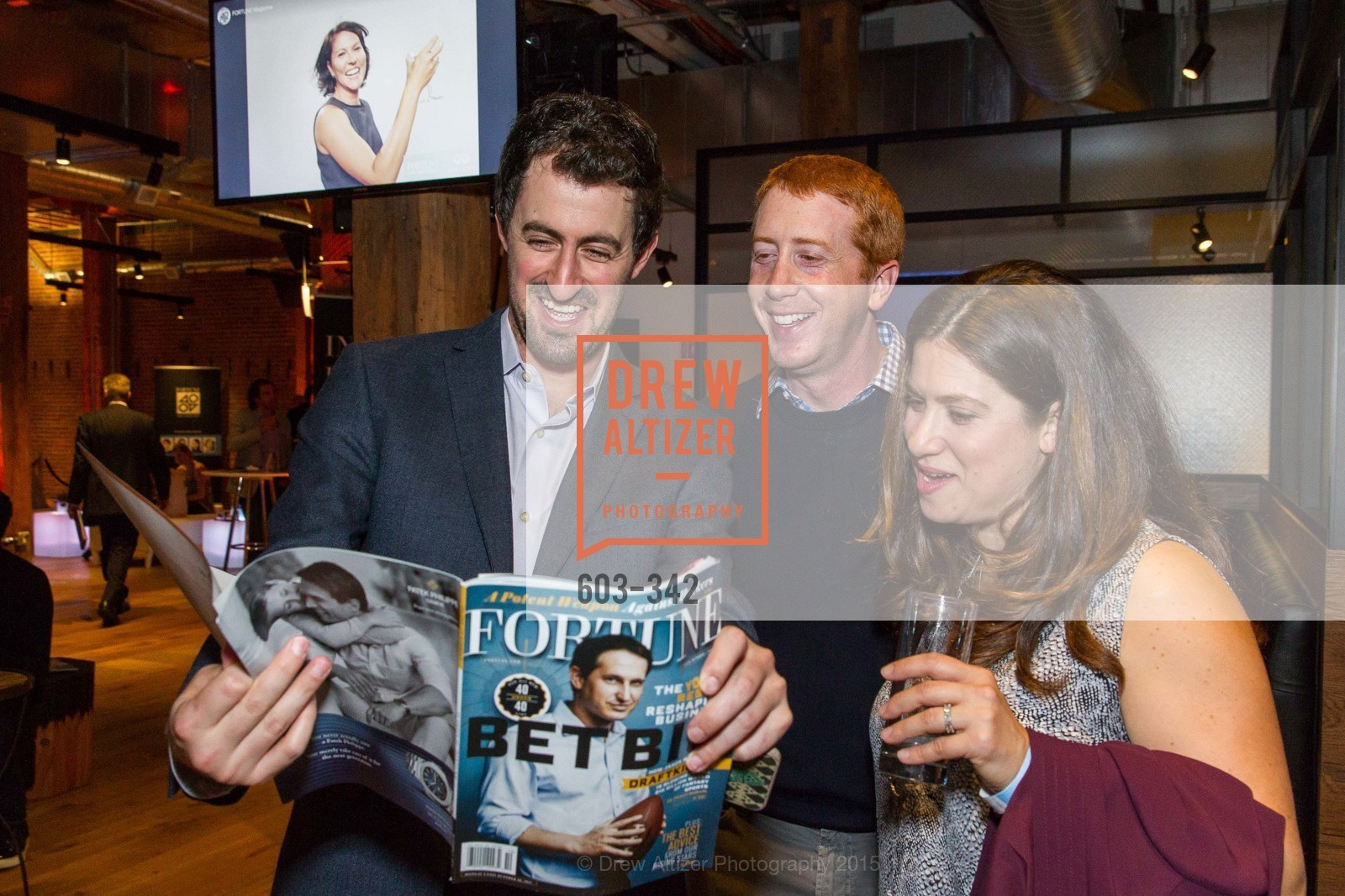 Daniel Roberts, Chuck Myers, Erica Myers, Fortune's 40 Under 40 Party, GitHub HQ. 88 Colin P Kelly Jr St, October 7th, 2015,Drew Altizer, Drew Altizer Photography, full-service agency, private events, San Francisco photographer, photographer california