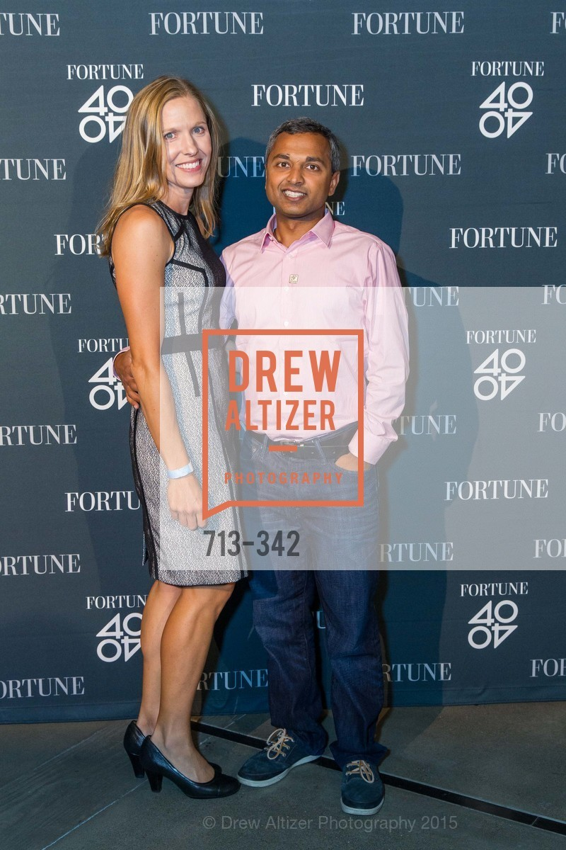 Laura Swaminathan, Anand Swaminathan, Fortune's 40 Under 40 Party, GitHub HQ. 88 Colin P Kelly Jr St, October 7th, 2015