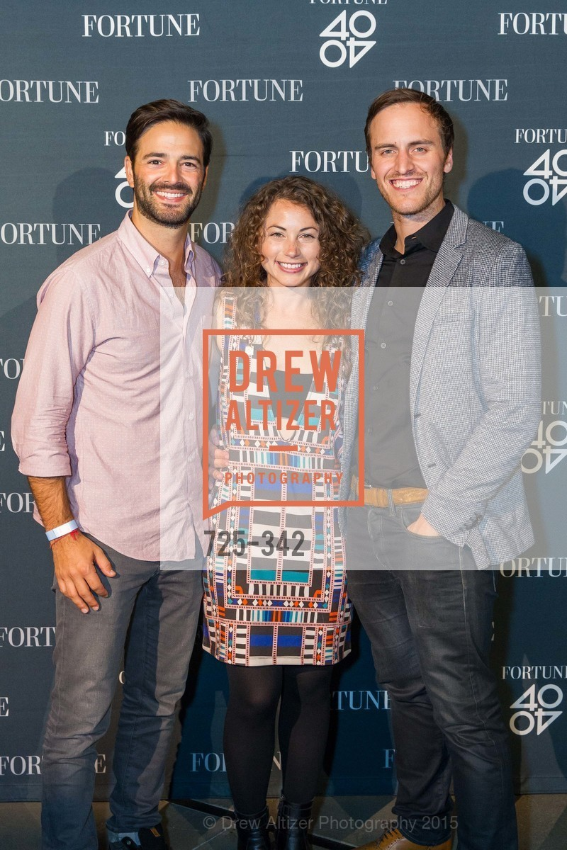 Noah Lichtenstein, Debbie Sterling, Beau Lewis, Fortune's 40 Under 40 Party, GitHub HQ. 88 Colin P Kelly Jr St, October 7th, 2015,Drew Altizer, Drew Altizer Photography, full-service agency, private events, San Francisco photographer, photographer california