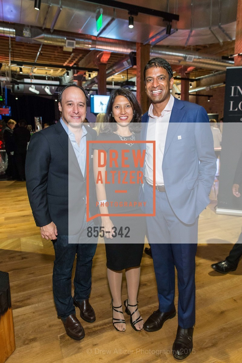 Josh Goldin, Srishti Gupta, Vas Narasimhan, Fortune's 40 Under 40 Party, GitHub HQ. 88 Colin P Kelly Jr St, October 7th, 2015,Drew Altizer, Drew Altizer Photography, full-service agency, private events, San Francisco photographer, photographer california