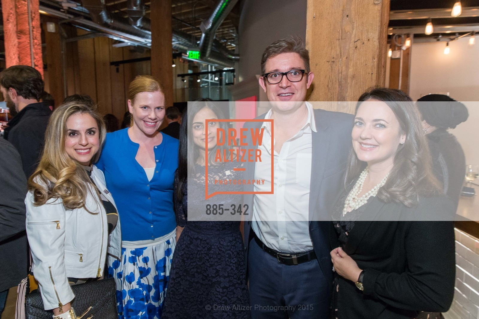 Michelle Dipp, Kristin Rubi, Dhivya Suryadevara, Jeff Peck, Sarah Kauss, Fortune's 40 Under 40 Party, GitHub HQ. 88 Colin P Kelly Jr St, October 7th, 2015,Drew Altizer, Drew Altizer Photography, full-service agency, private events, San Francisco photographer, photographer california