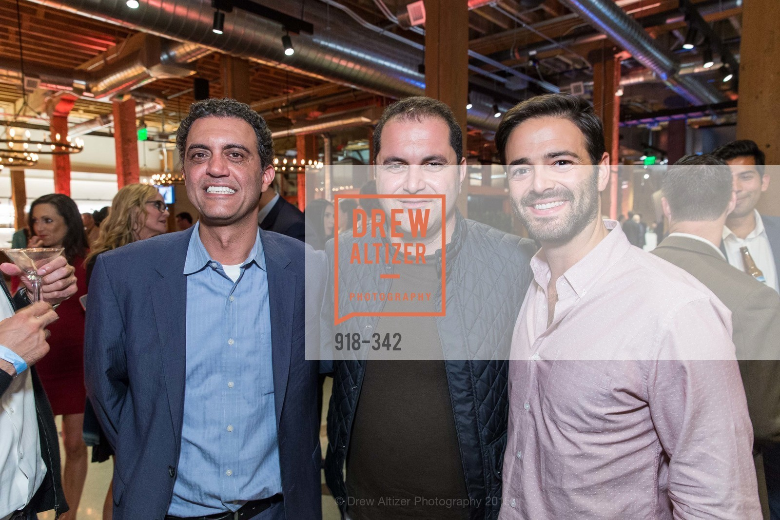 Emil Michael, Shervin Pishevar, Noah Lichtenstein, Fortune's 40 Under 40 Party, GitHub HQ. 88 Colin P Kelly Jr St, October 7th, 2015,Drew Altizer, Drew Altizer Photography, full-service agency, private events, San Francisco photographer, photographer california