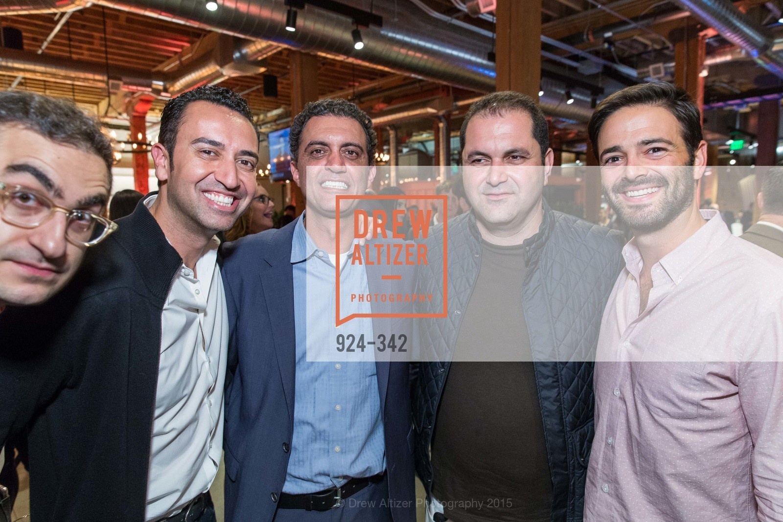 Fareed Adib, Emil Michael, Shervin Pishevar, Noah Lichtenstein, Fortune's 40 Under 40 Party, GitHub HQ. 88 Colin P Kelly Jr St, October 7th, 2015,Drew Altizer, Drew Altizer Photography, full-service agency, private events, San Francisco photographer, photographer california