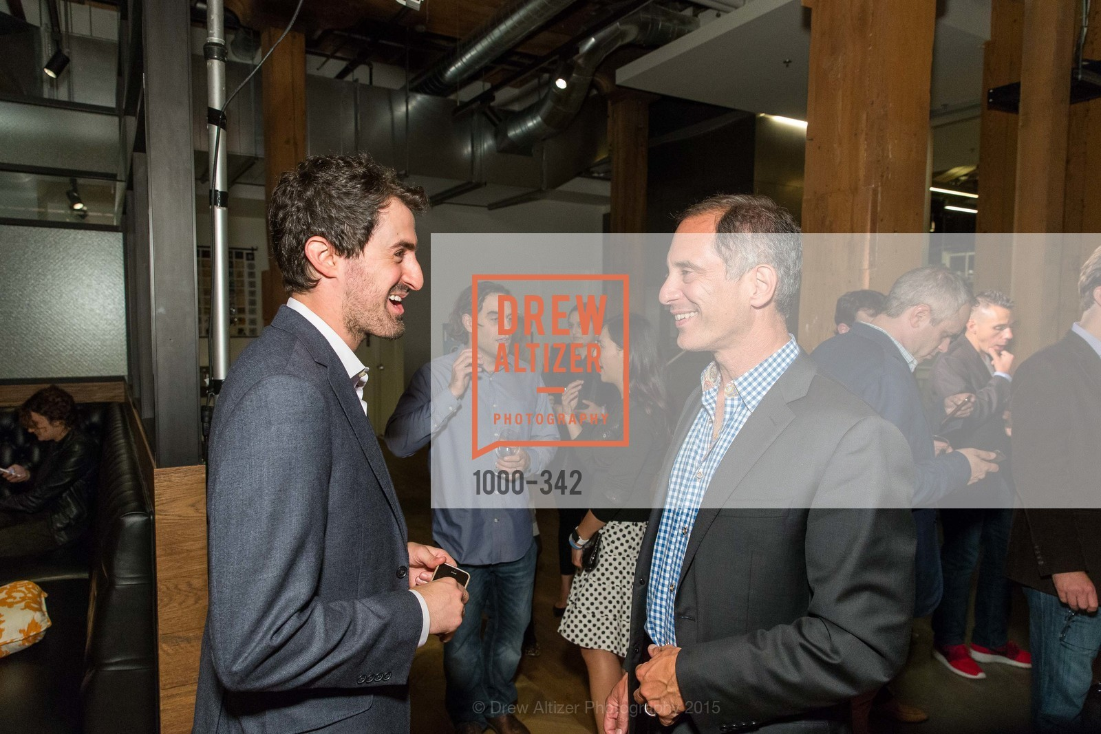 Daniel Roberts, Adam Lashinsky, Fortune's 40 Under 40 Party, GitHub HQ. 88 Colin P Kelly Jr St, October 7th, 2015,Drew Altizer, Drew Altizer Photography, full-service agency, private events, San Francisco photographer, photographer california