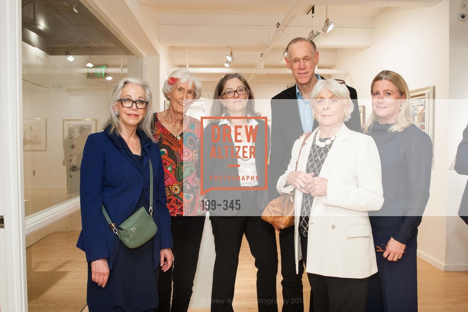 Nancy Ascher, Shirley Kelley, Elena Gates, Tom Kelley, Robin Gates, Cathy Brisbin, John Berggruen Gallery presents