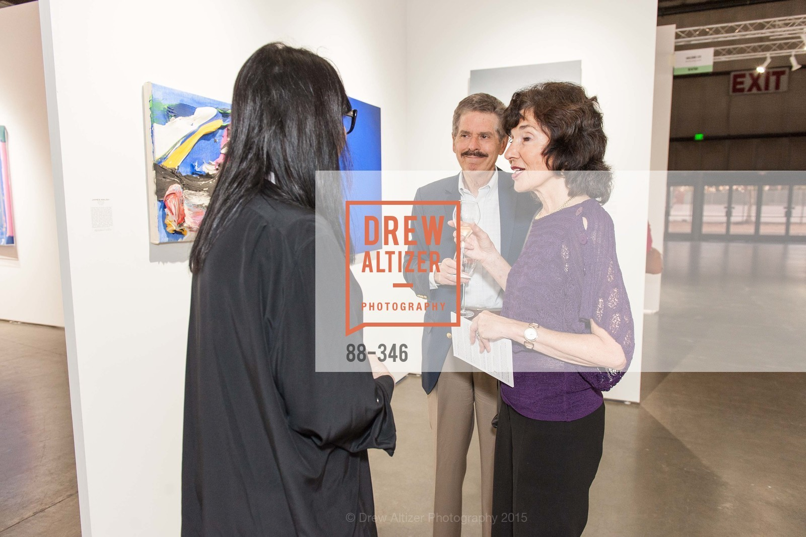 Alan Melnicoe, Shirley Melnicoe, Art Miami Presents: Art Silicon Valley, San Mateo County Event Center. 1346 Saratoga Dr, October 8th, 2015,Drew Altizer, Drew Altizer Photography, full-service agency, private events, San Francisco photographer, photographer california