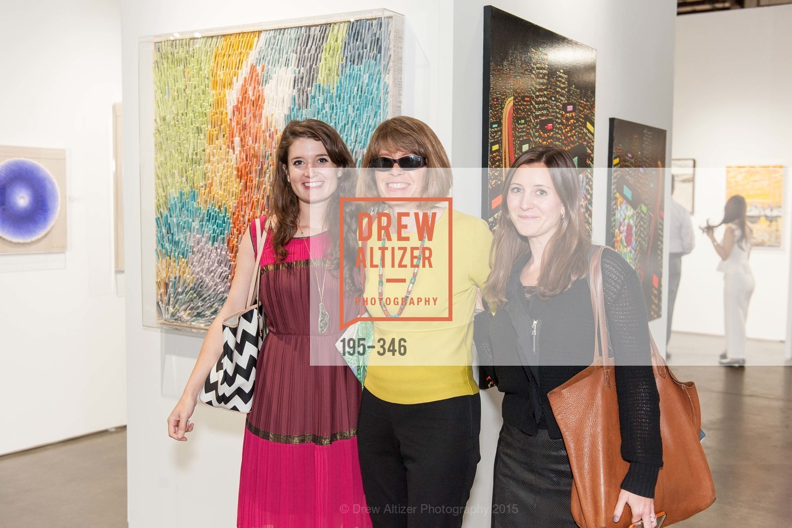 Katherine James, Sally James, Emily Lambert, Art Miami Presents: Art Silicon Valley, San Mateo County Event Center. 1346 Saratoga Dr, October 8th, 2015,Drew Altizer, Drew Altizer Photography, full-service agency, private events, San Francisco photographer, photographer california