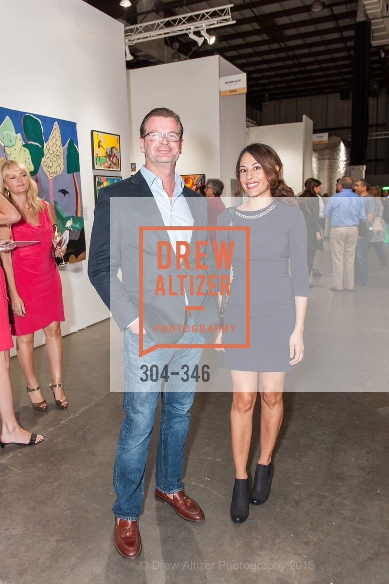 Francois Renet, Melissa Barbagallo, Art Miami Presents: Art Silicon Valley, San Mateo County Event Center. 1346 Saratoga Dr, October 8th, 2015,Drew Altizer, Drew Altizer Photography, full-service agency, private events, San Francisco photographer, photographer california