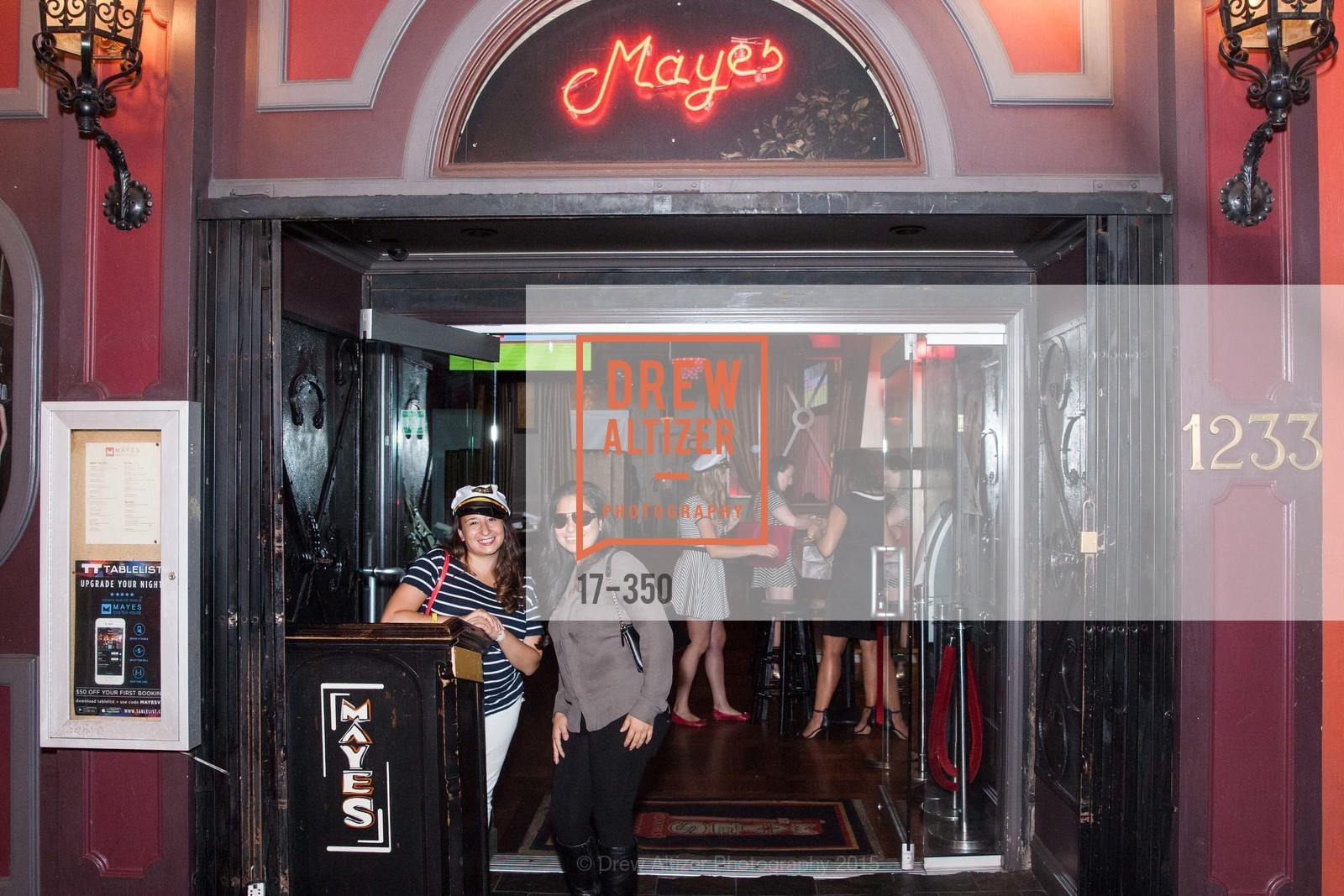 Lauren Birnbaum, Natalie Bueno, Spinsters of San Francisco Presents: Fleet or Flight, Mayes Oyster House. 1233 Polk St, October 9th, 2015,Drew Altizer, Drew Altizer Photography, full-service agency, private events, San Francisco photographer, photographer california