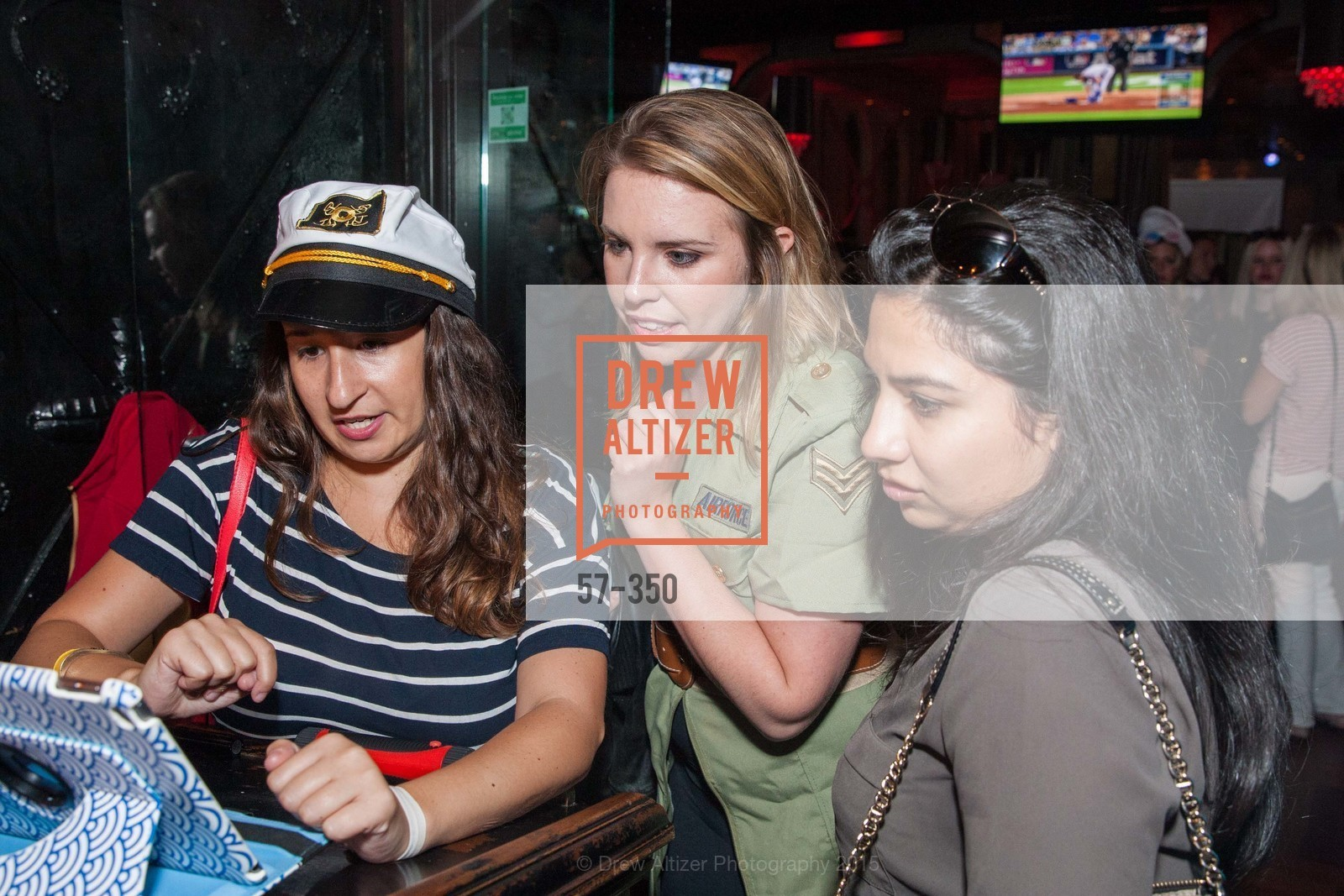 Lauren Birnbaum, Sara Moynihan, Natalie Bueno, Spinsters of San Francisco Presents: Fleet or Flight, Mayes Oyster House. 1233 Polk St, October 9th, 2015,Drew Altizer, Drew Altizer Photography, full-service agency, private events, San Francisco photographer, photographer california