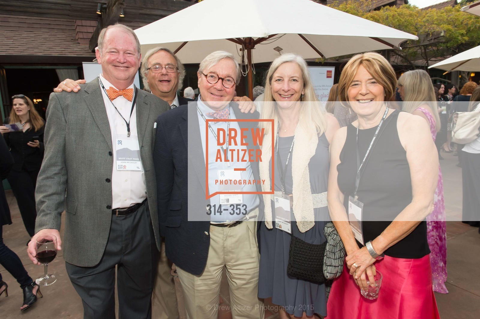 John McCollin, Tom Wachtel, Michael Dyett, Cindy McCollin, Heidi Richardson, Mill Valley Film Festival Opening Night VIP Reception, Outdoor Art Club. 1 W Blithedale Ave, October 8th, 2015,Drew Altizer, Drew Altizer Photography, full-service agency, private events, San Francisco photographer, photographer california