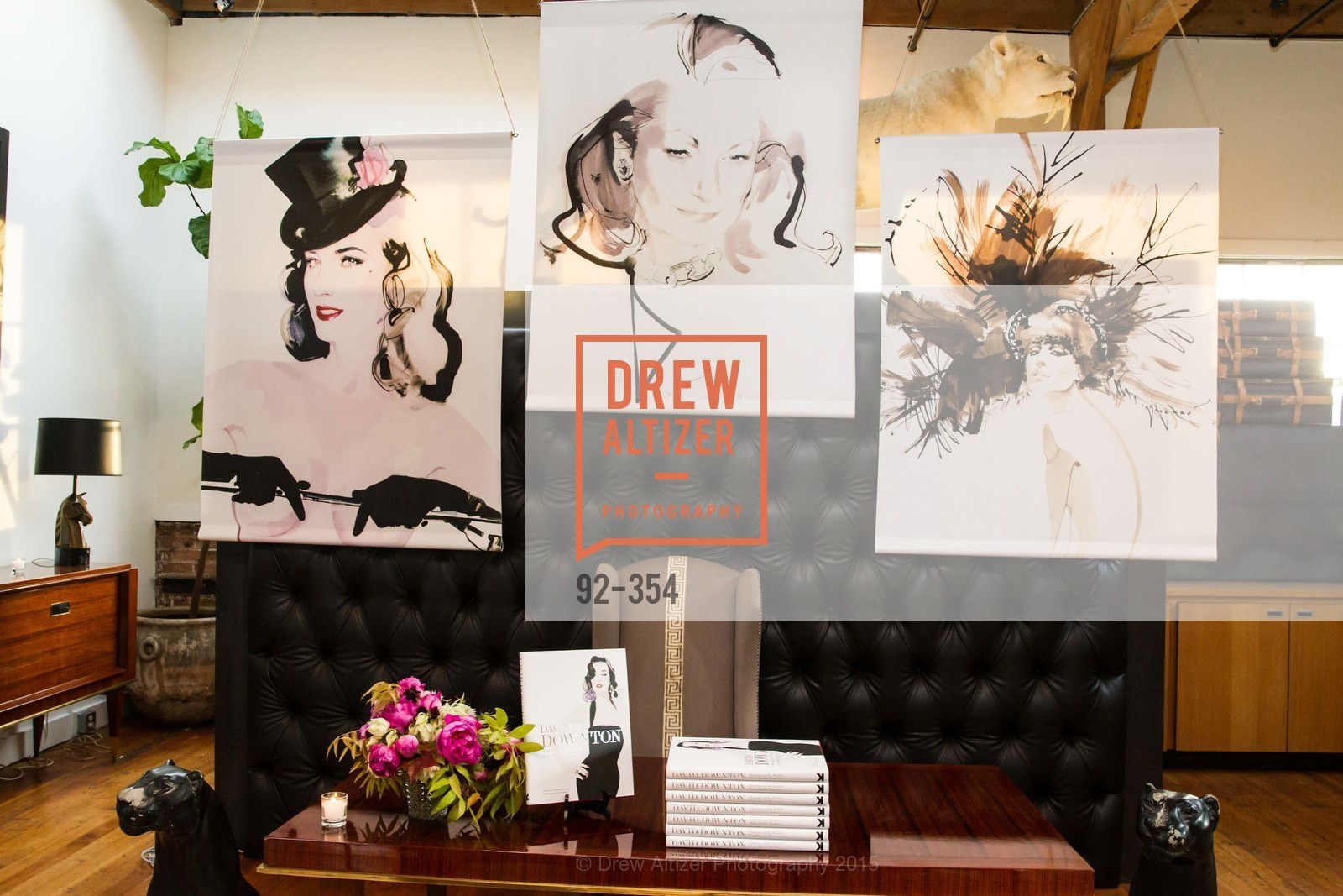 Atmosphere, Ken Fulk Hosts A David Downton Book Signing Party, Ken Fulk's Loft. 310 7th St, October 9th, 2015,Drew Altizer, Drew Altizer Photography, full-service agency, private events, San Francisco photographer, photographer california