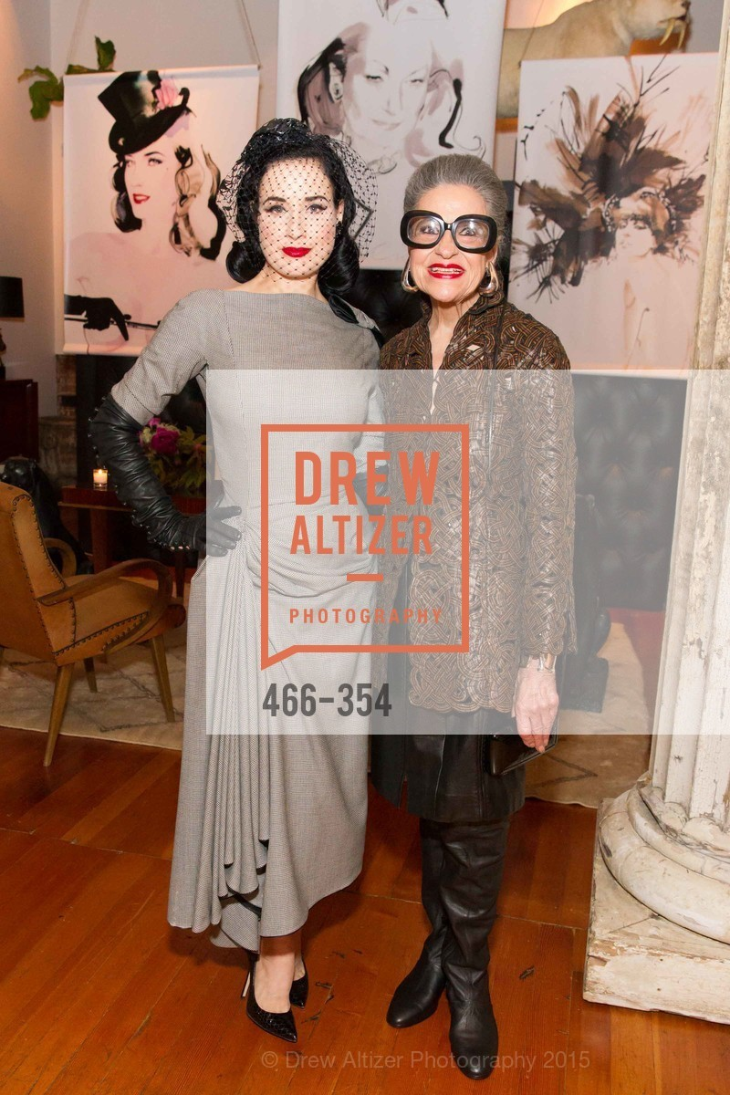 Dita Von Teese, Joy Venturini Bianchi, Ken Fulk Hosts A David Downton Book Signing Party, Ken Fulk's Loft. 310 7th St, October 9th, 2015,Drew Altizer, Drew Altizer Photography, full-service agency, private events, San Francisco photographer, photographer california
