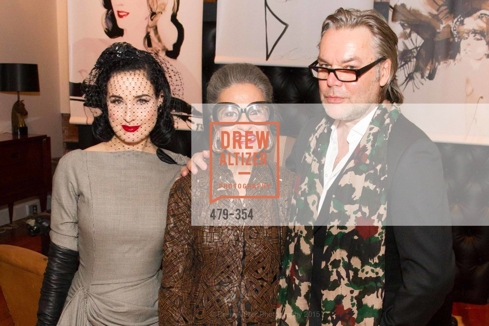 Dita Von Teese, Joy Venturini Bianchi, David Downton, Ken Fulk Hosts A David Downton Book Signing Party, Ken Fulk's Loft. 310 7th St, October 9th, 2015,Drew Altizer, Drew Altizer Photography, full-service agency, private events, San Francisco photographer, photographer california