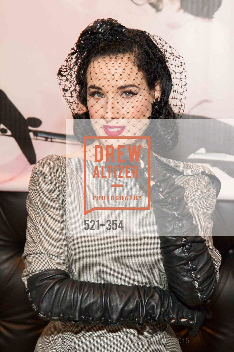 Dita Von Teese, Ken Fulk Hosts A David Downton Book Signing Party, Ken Fulk's Loft. 310 7th St, October 9th, 2015