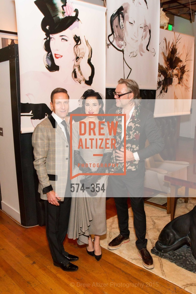 Ken Fulk, Dita Von Teese, David Downton, Ken Fulk Hosts A David Downton Book Signing Party, Ken Fulk's Loft. 310 7th St, October 9th, 2015,Drew Altizer, Drew Altizer Photography, full-service agency, private events, San Francisco photographer, photographer california
