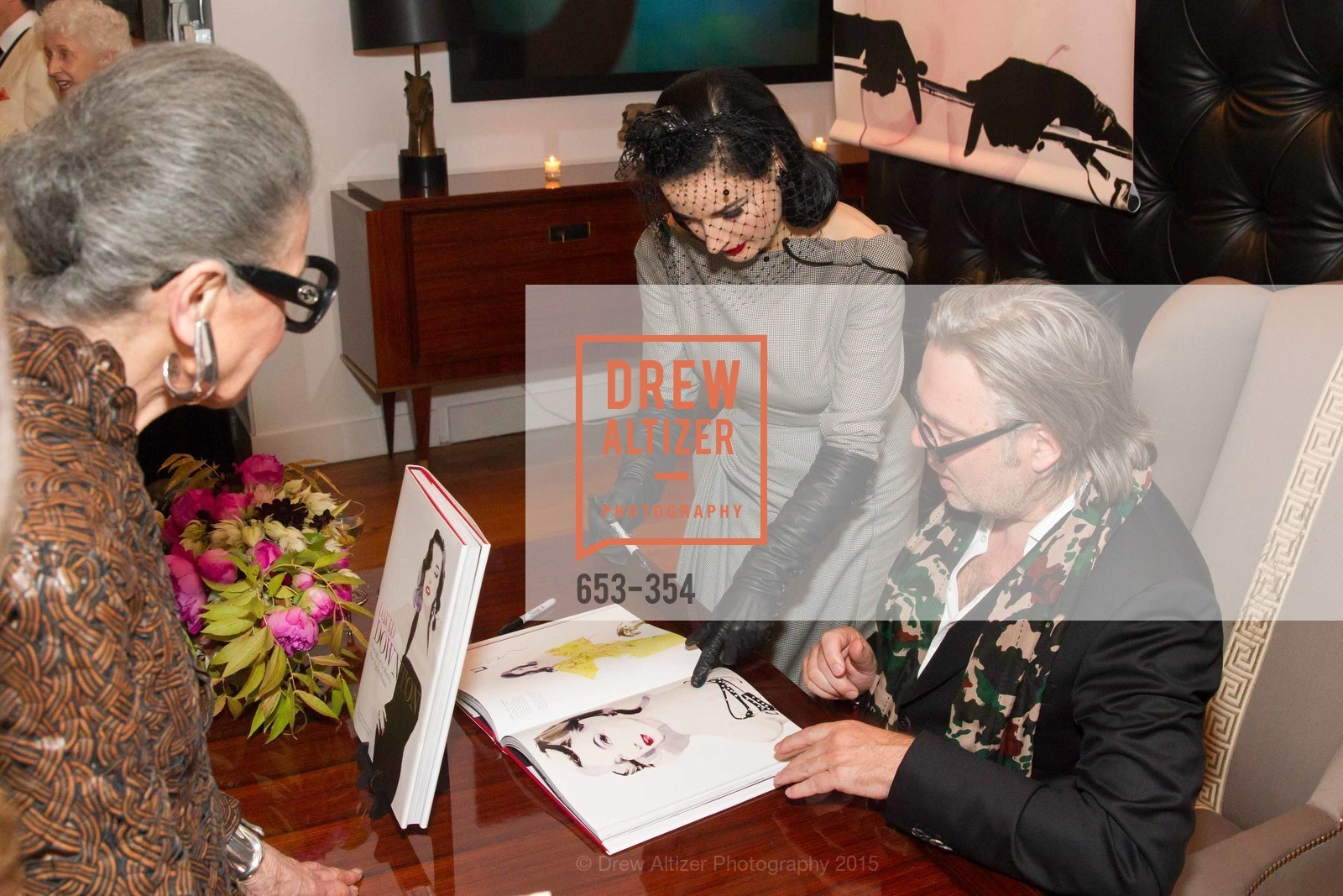 Dita Von Teese, David Downton, Ken Fulk Hosts A David Downton Book Signing Party, Ken Fulk's Loft. 310 7th St, October 9th, 2015,Drew Altizer, Drew Altizer Photography, full-service agency, private events, San Francisco photographer, photographer california