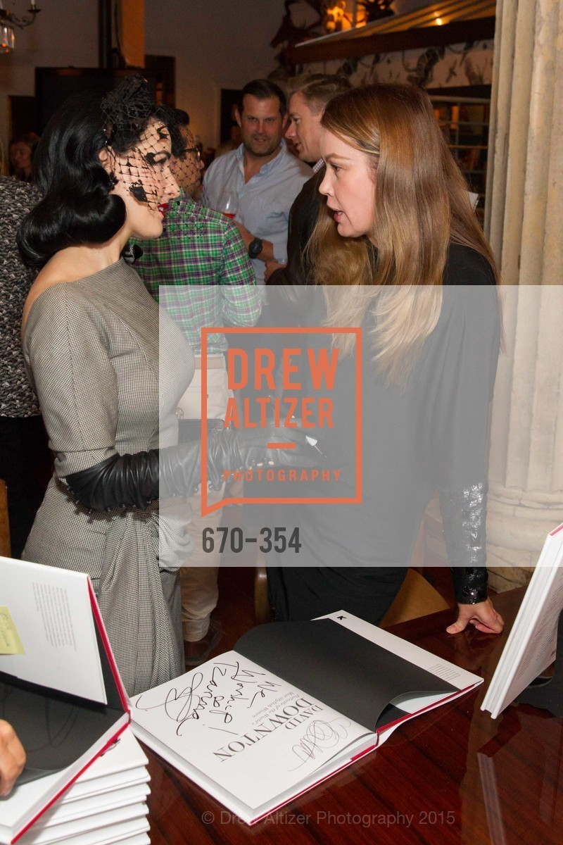 Dita Von Teese, Tatiana Sorokko, Ken Fulk Hosts A David Downton Book Signing Party, Ken Fulk's Loft. 310 7th St, October 9th, 2015,Drew Altizer, Drew Altizer Photography, full-service agency, private events, San Francisco photographer, photographer california