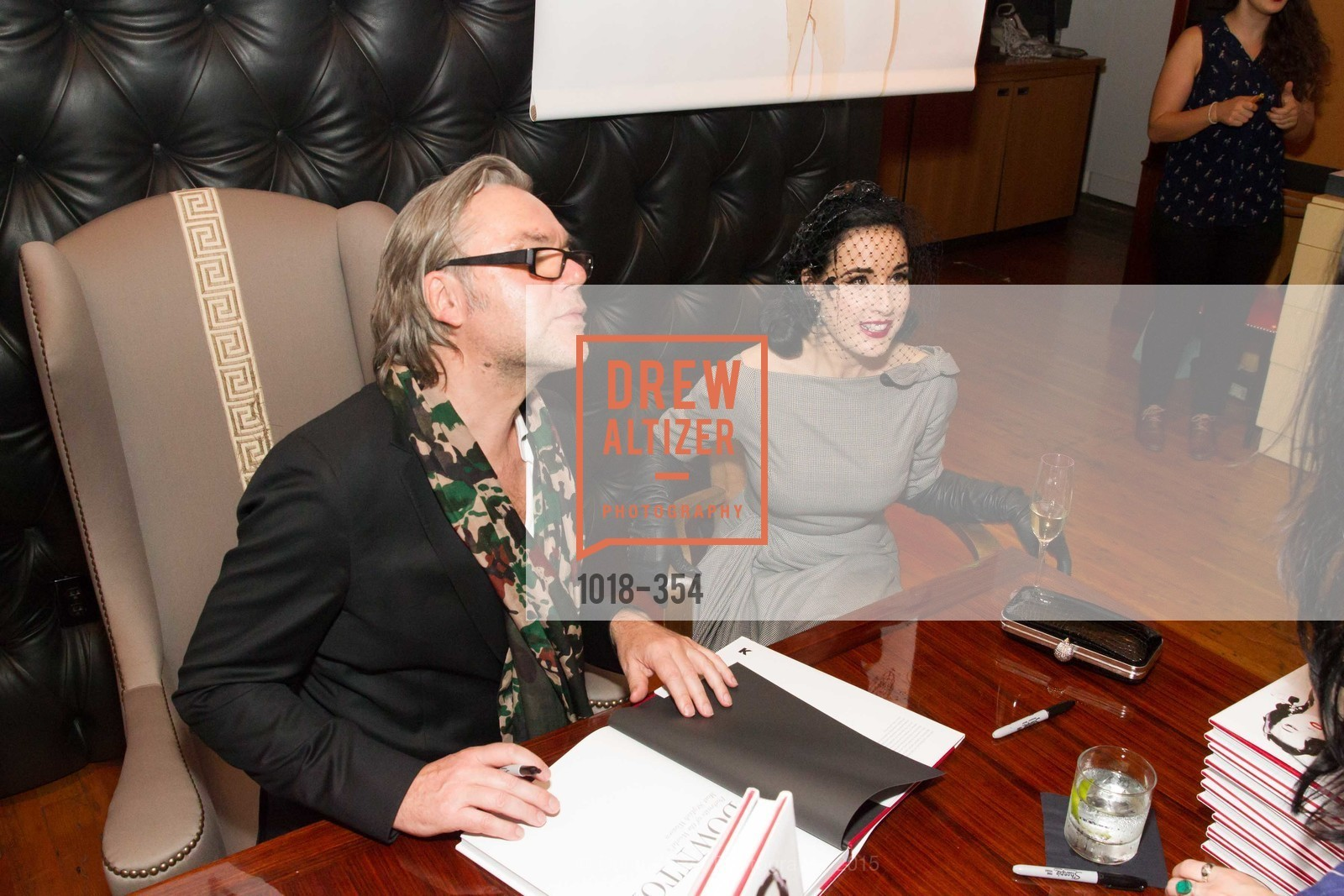 David Downton, Dita Von Teese, Ken Fulk Hosts A David Downton Book Signing Party, Ken Fulk's Loft. 310 7th St, October 9th, 2015,Drew Altizer, Drew Altizer Photography, full-service agency, private events, San Francisco photographer, photographer california