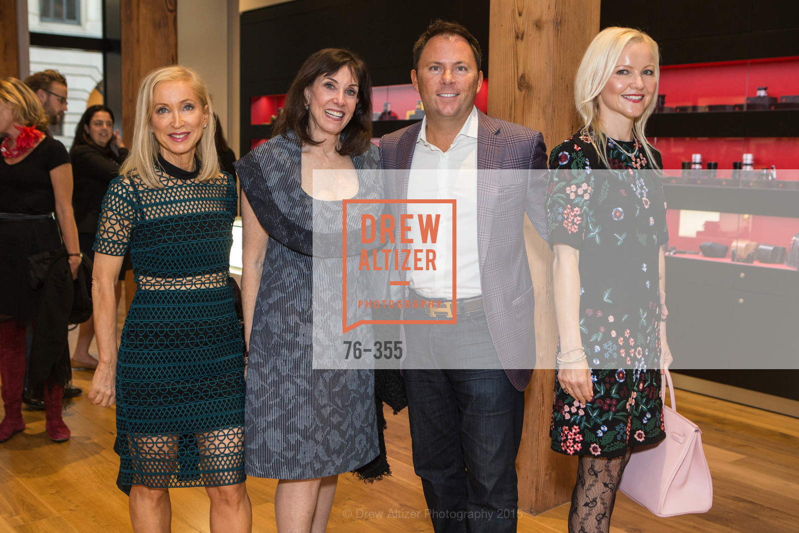 Shelley Gordon, Jill Barnett, Gary McGuire, Nathalie Delrue-McGuire, SFMOMA Contemporary Vision Award Launch Party, Leica. 463 Bush St, October 8th, 2015,Drew Altizer, Drew Altizer Photography, full-service agency, private events, San Francisco photographer, photographer california